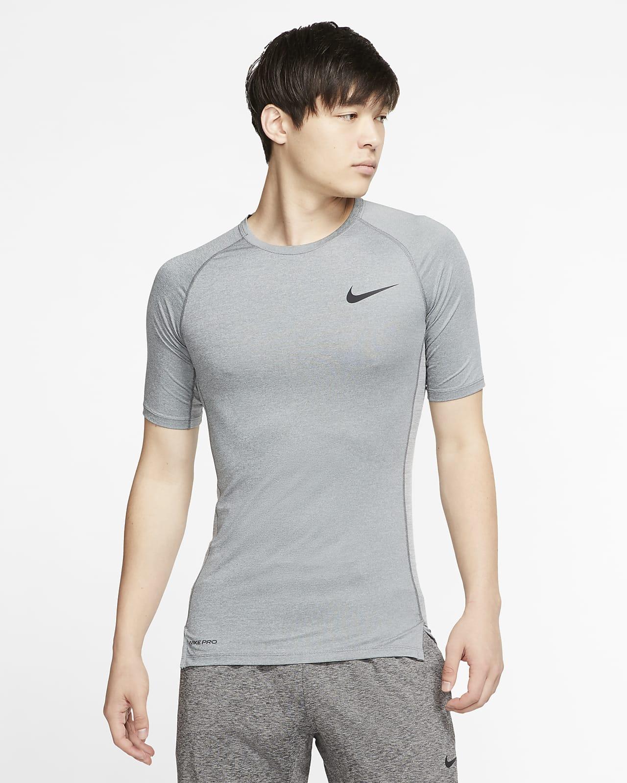 Nike Pro–kortærmet overdel med tætsiddende pasform til mænd