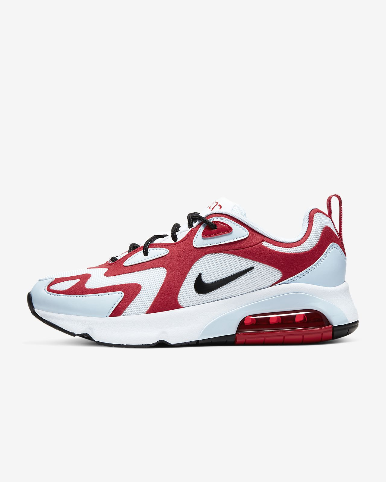 Nike Air Max 200 Sneakers WhiteBlackGym RedHalf Blue