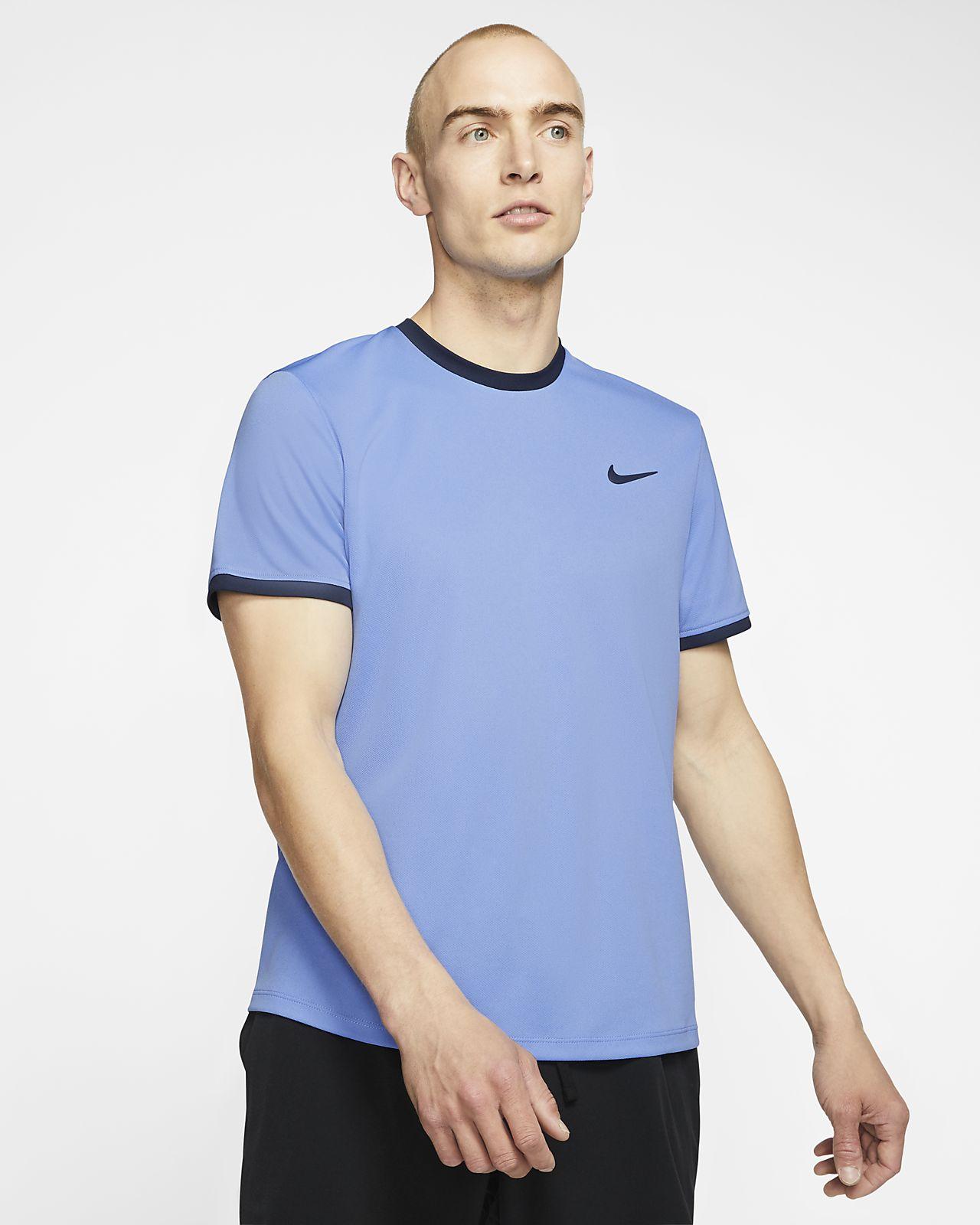 NikeCourt Dri-FIT-kortærmet tennisoverdel til mænd