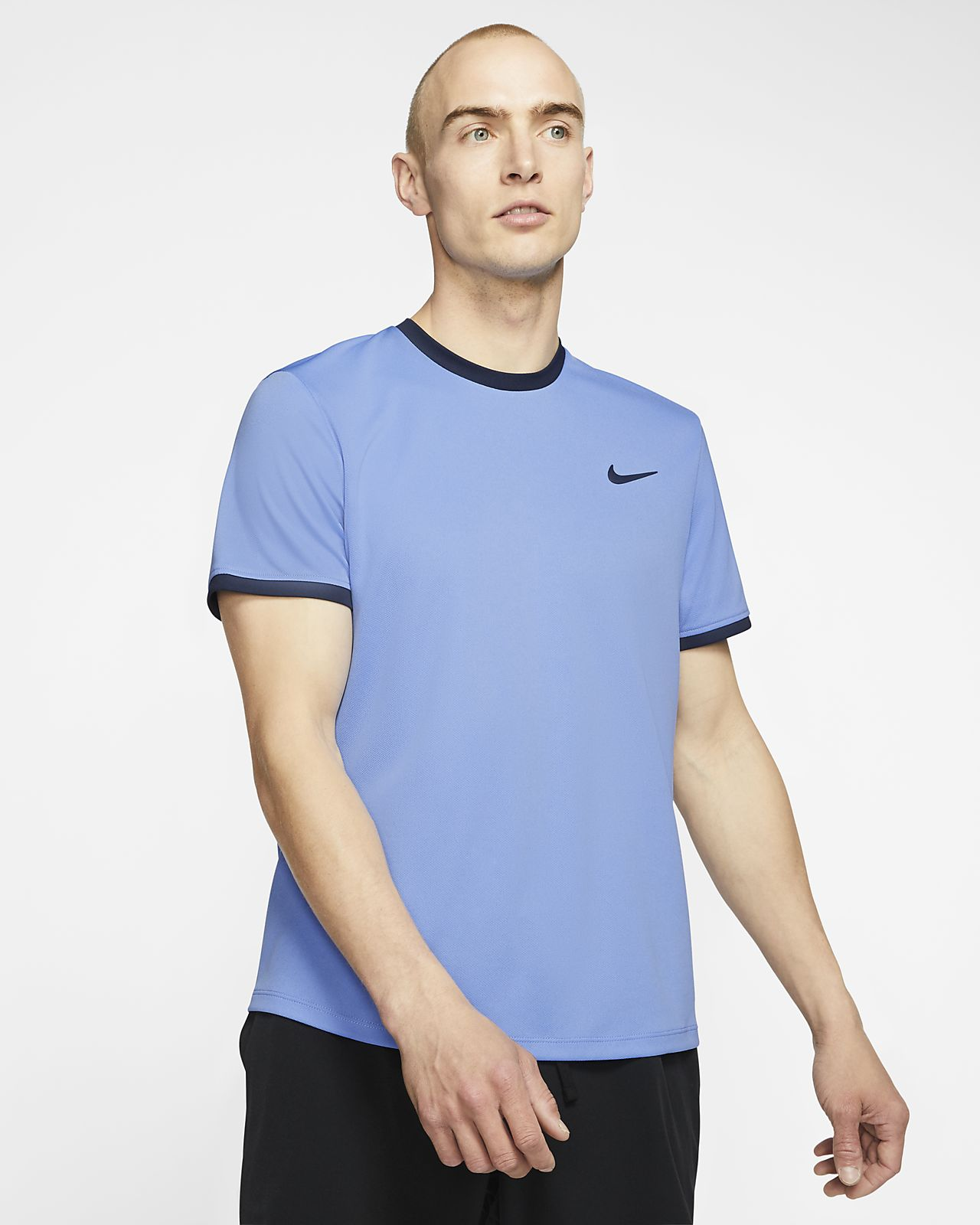 NikeCourt Dri-FIT Kurzarm-Tennisoberteil für Herren