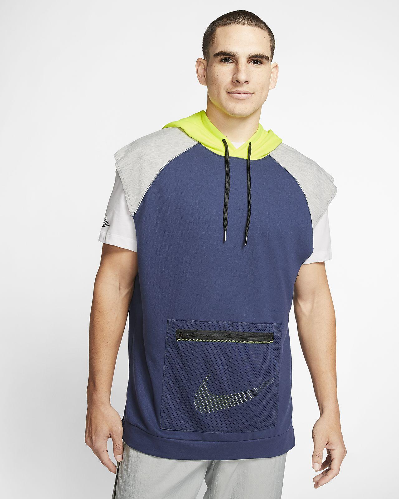 Nike Dri-FIT Fleece Kolsuz Erkek Antrenman Kapüşonlu Üst