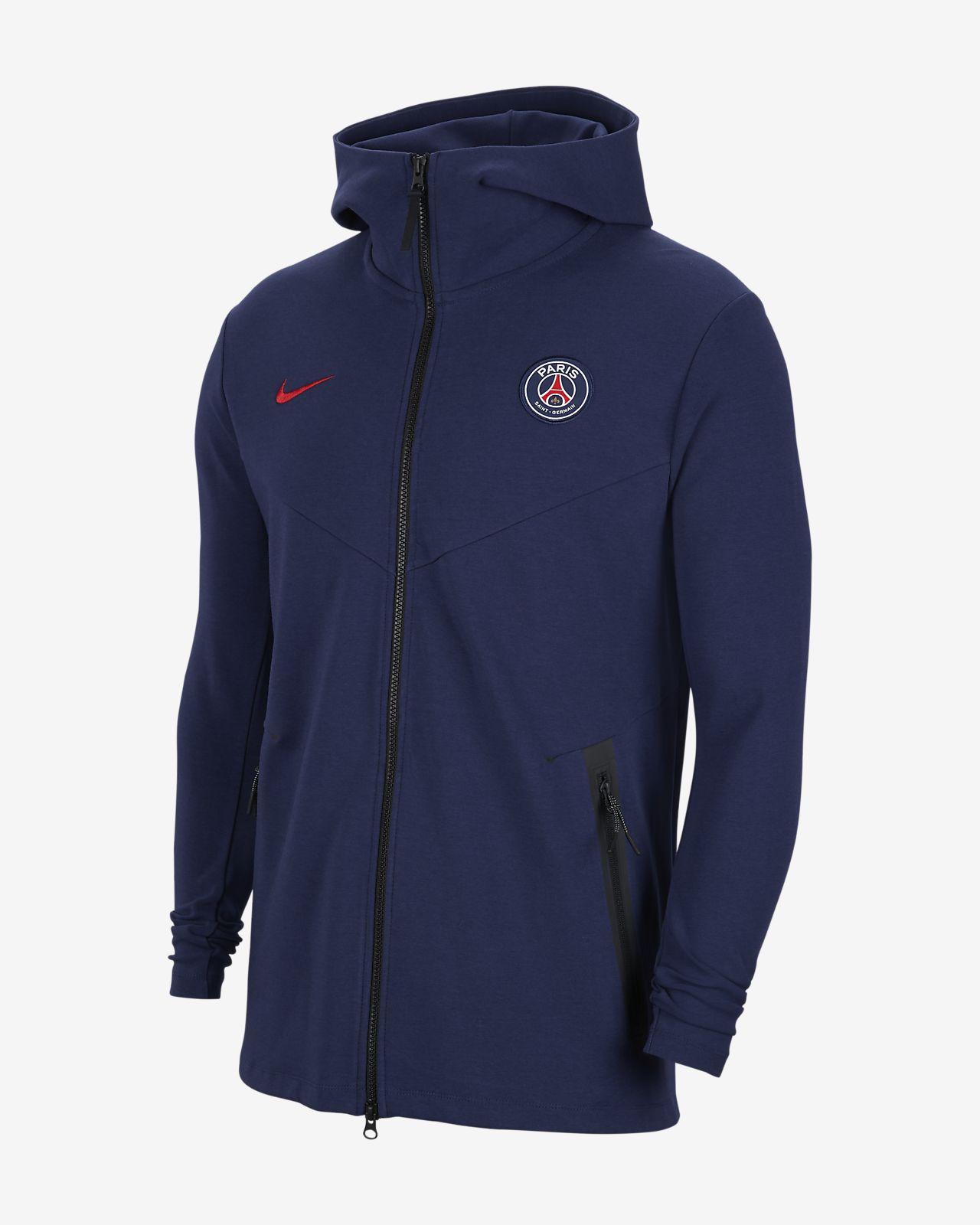 Męska bluza z kapturem i zamkiem na całej długości Paris Saint-Germain Tech Pack