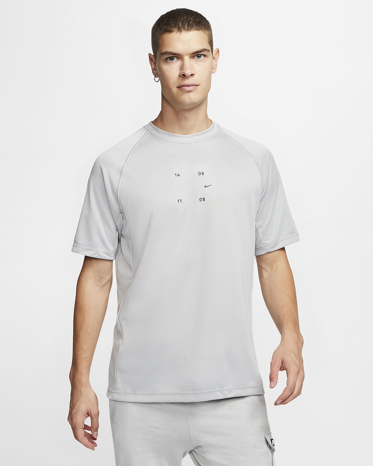Kortärmad stickad tröja Nike Sportswear Tech Pack för män