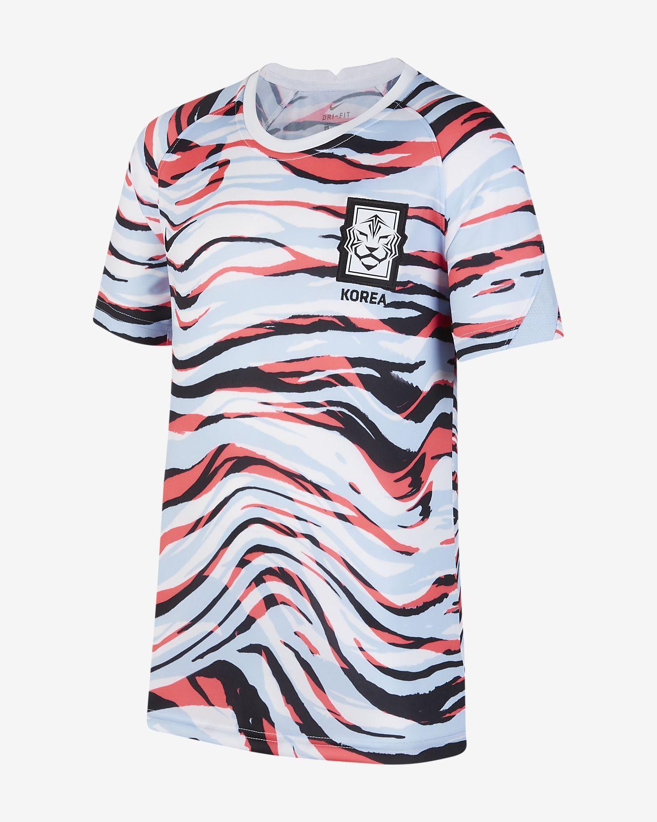 เสื้อฟุตบอลแขนสั้นเด็กโต Korea