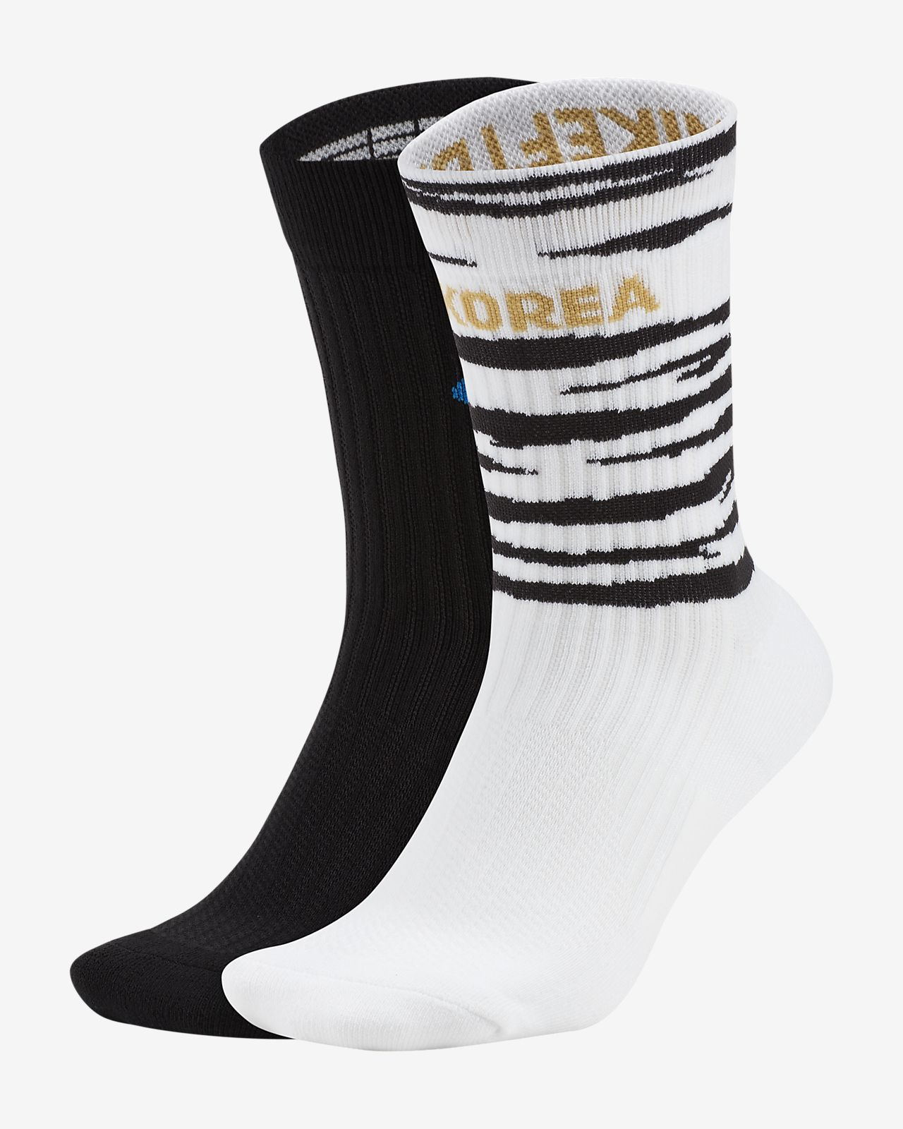 Calcetines largos de fútbol SNKR Sox Shox de Corea (dos pares)