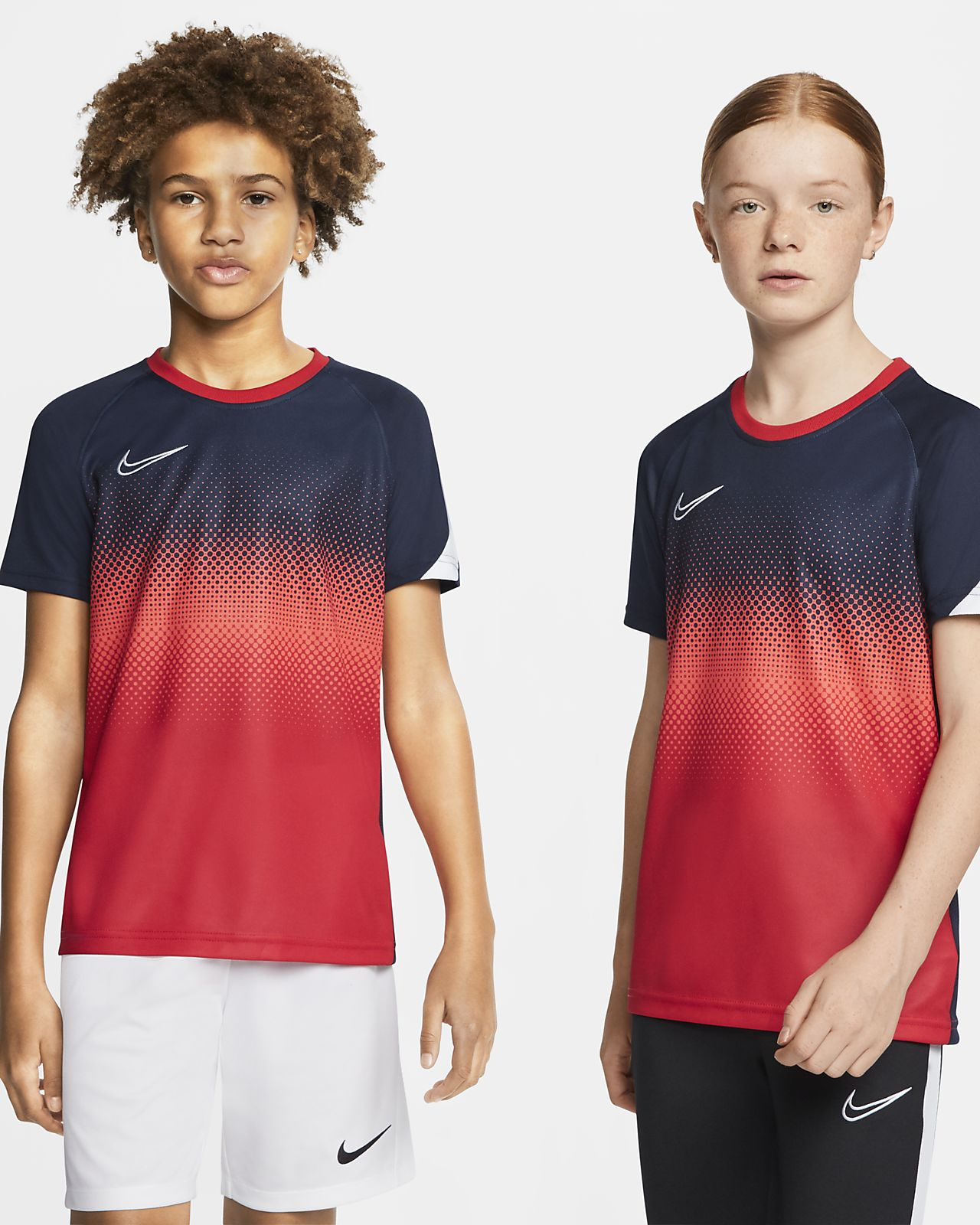 Nike Performance DRY ACDMY  - T-shirts med print - obsidian/white
