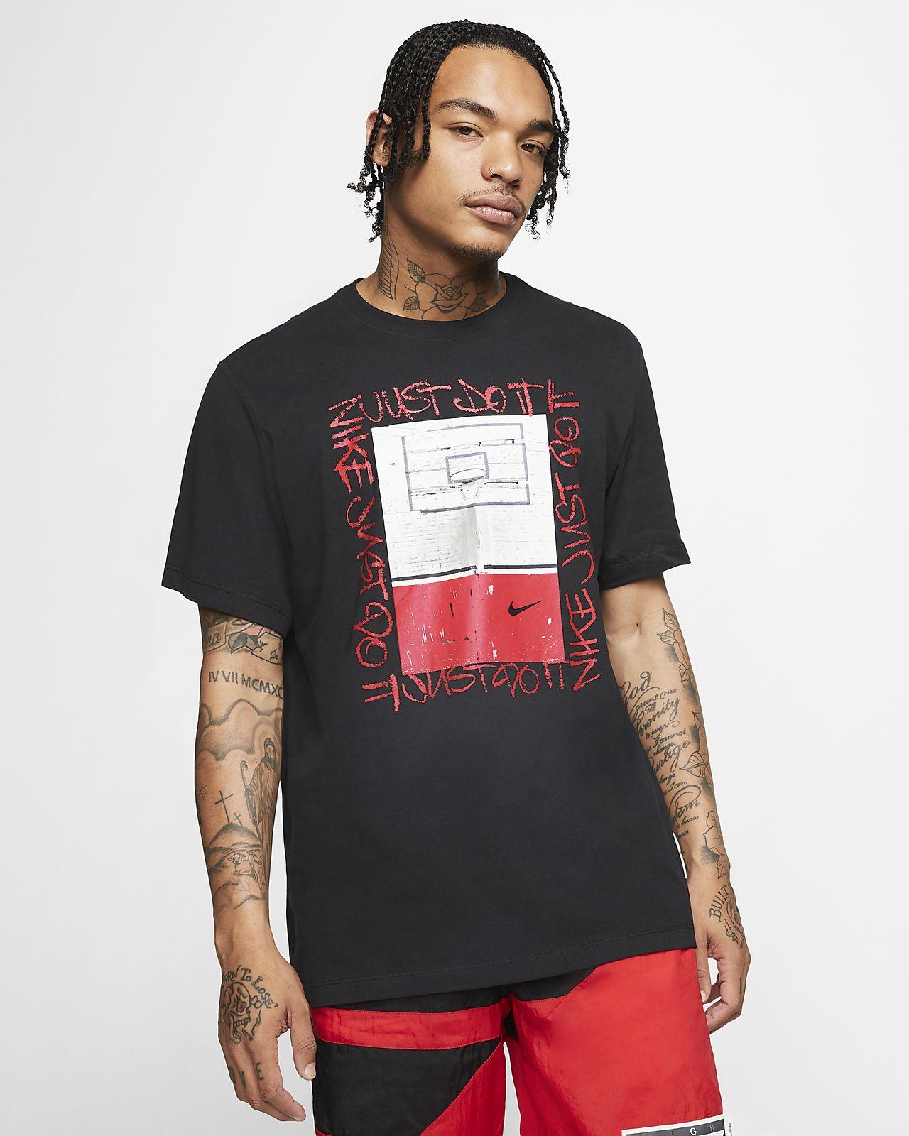 Męski T-shirt do koszykówki Nike Dri-FIT Hoop Photo