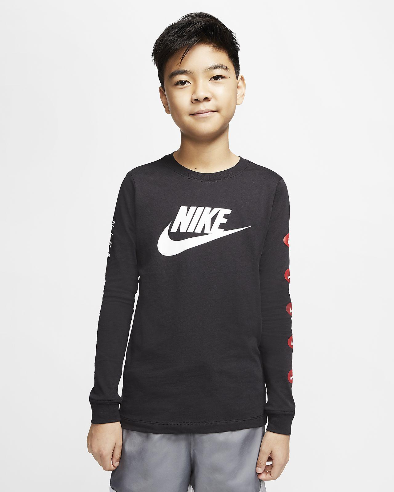 ナイキ スポーツウェア ジュニア (ボーイズ) ロングスリーブ Tシャツ