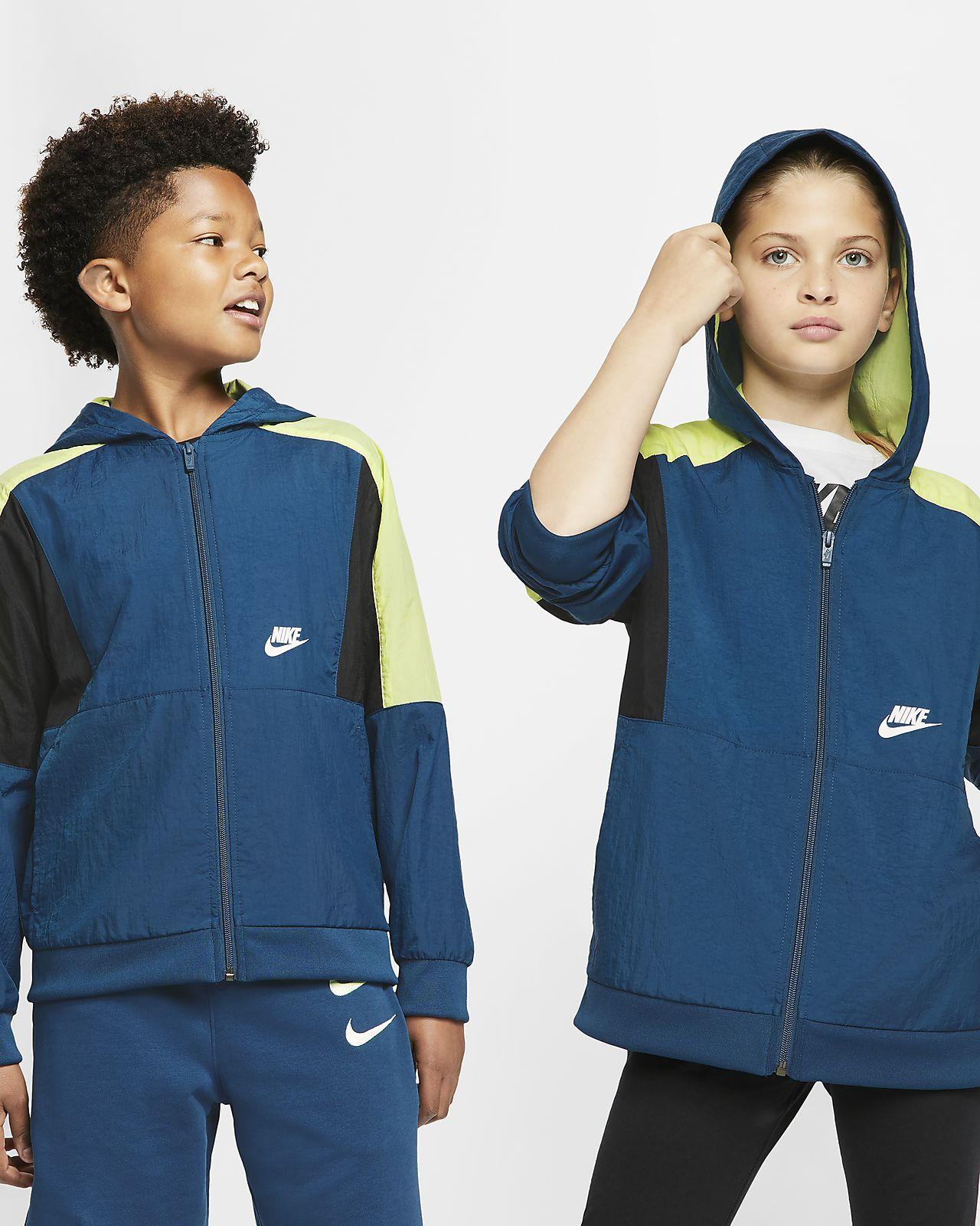 Куртка из тканого материала с молнией во всю длину для мальчиков школьного возраста Nike Sportswear
