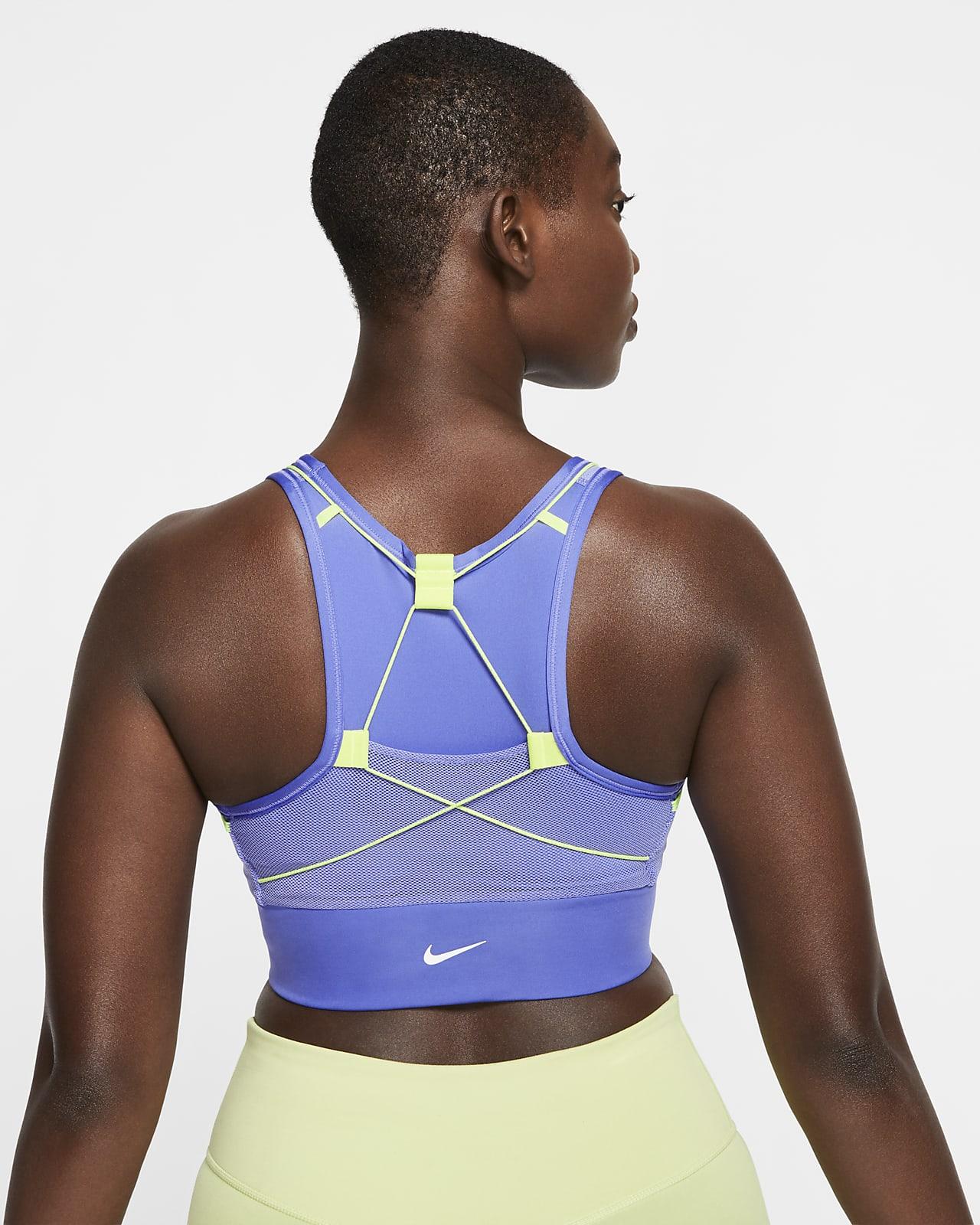 Спортивное бра со средней поддержкой с карманами Nike Swoosh Icon Clash