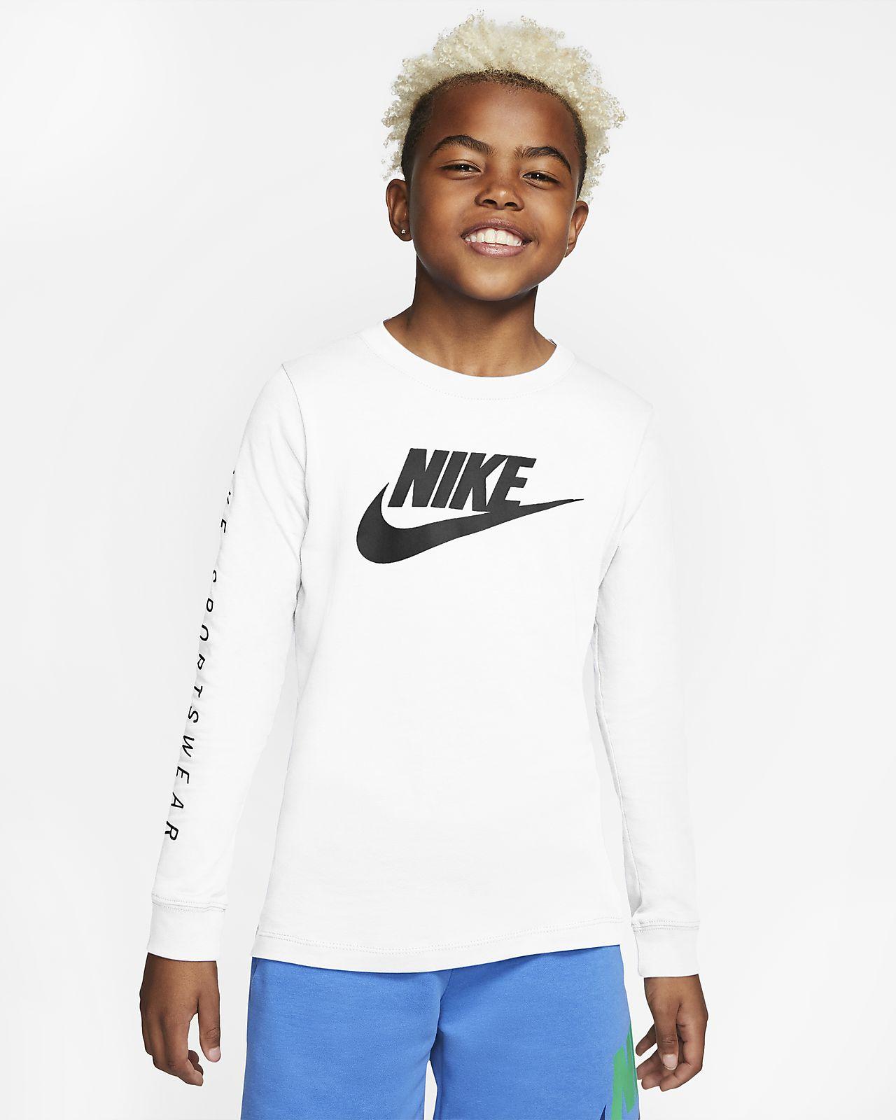 Nike Sportswear hosszú ujjú póló nagyobb gyerekeknek (fiúk)
