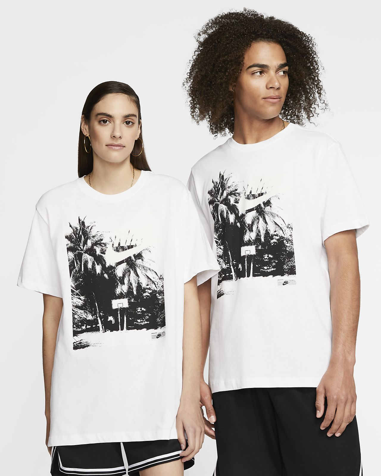 T-shirt de basquetebol Nike Beach