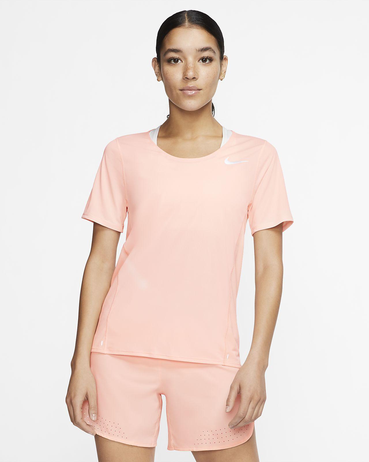Top da running a manica corta Nike City Sleek - Donna