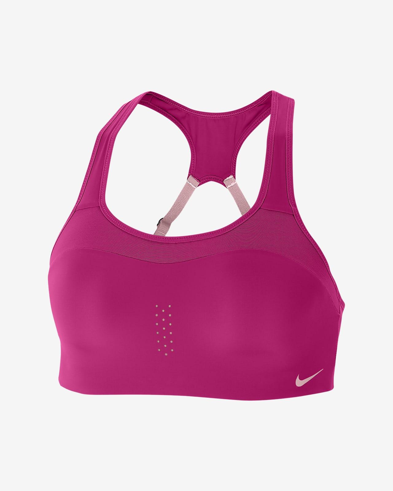 Nike Alpha erős tartást adó, párnázott női sportmelltartó