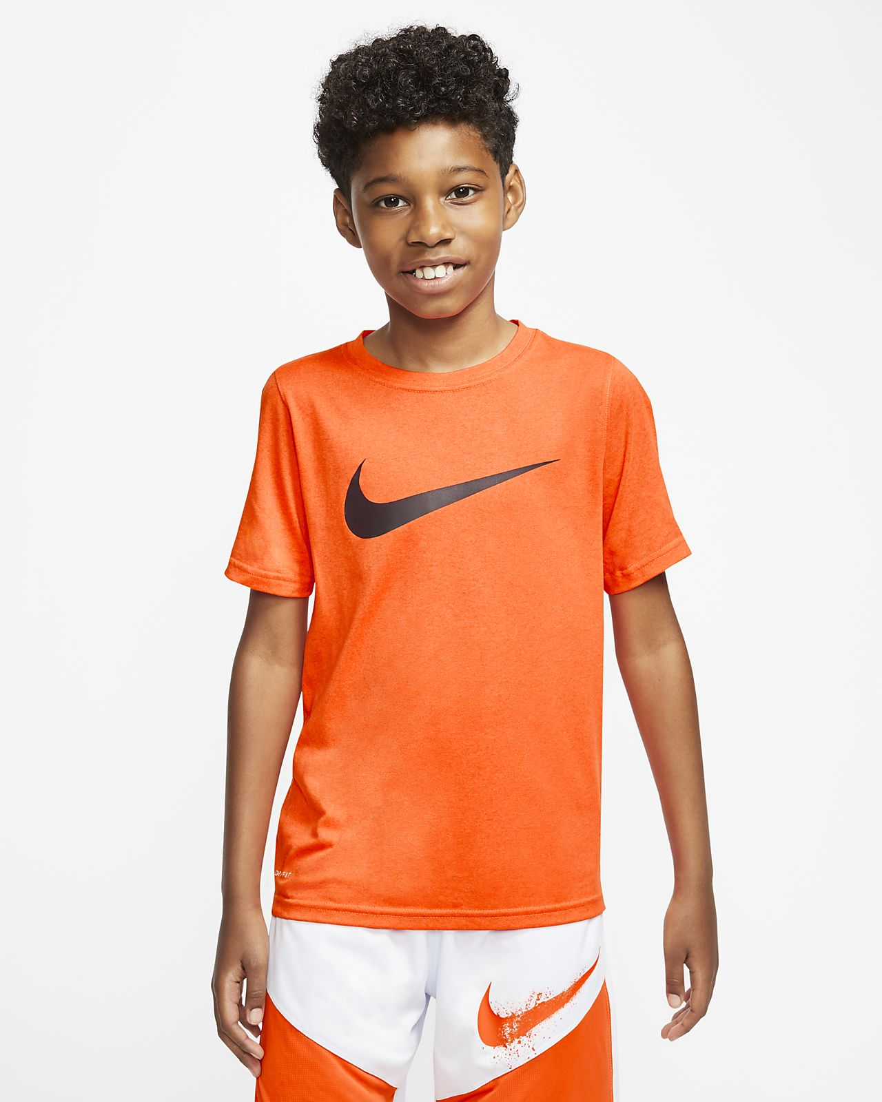 Nike Dri-FIT Big Kids' Swoosh Training T-Shirt