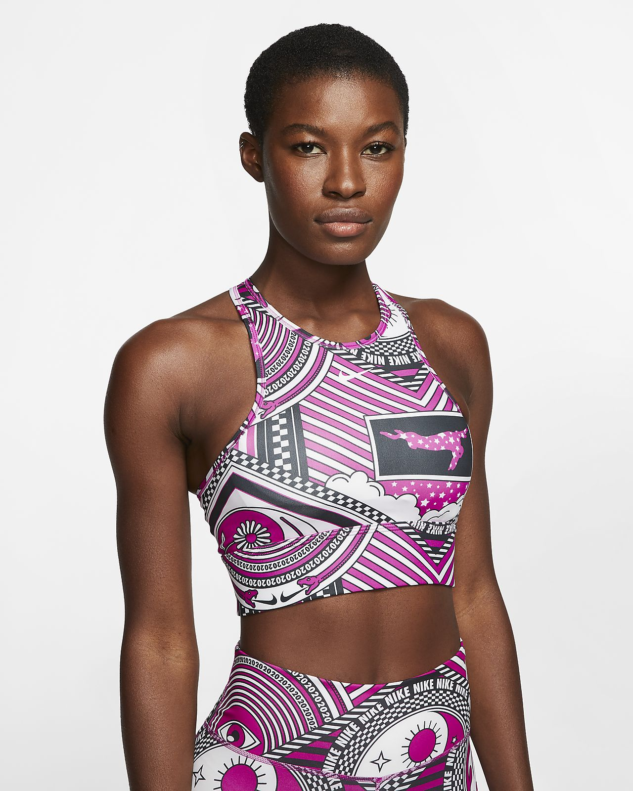 Nike Swoosh 女款高領中度支撐型運動內衣