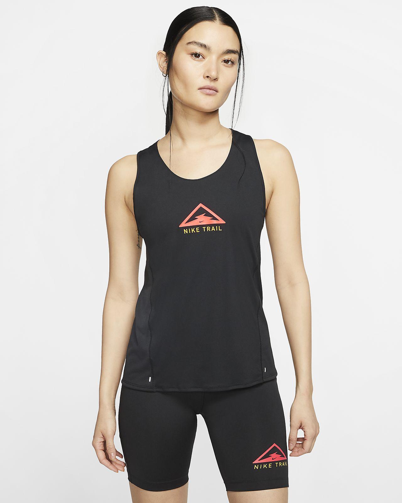 เสื้อกล้ามวิ่งเทรลผู้หญิง Nike City Sleek