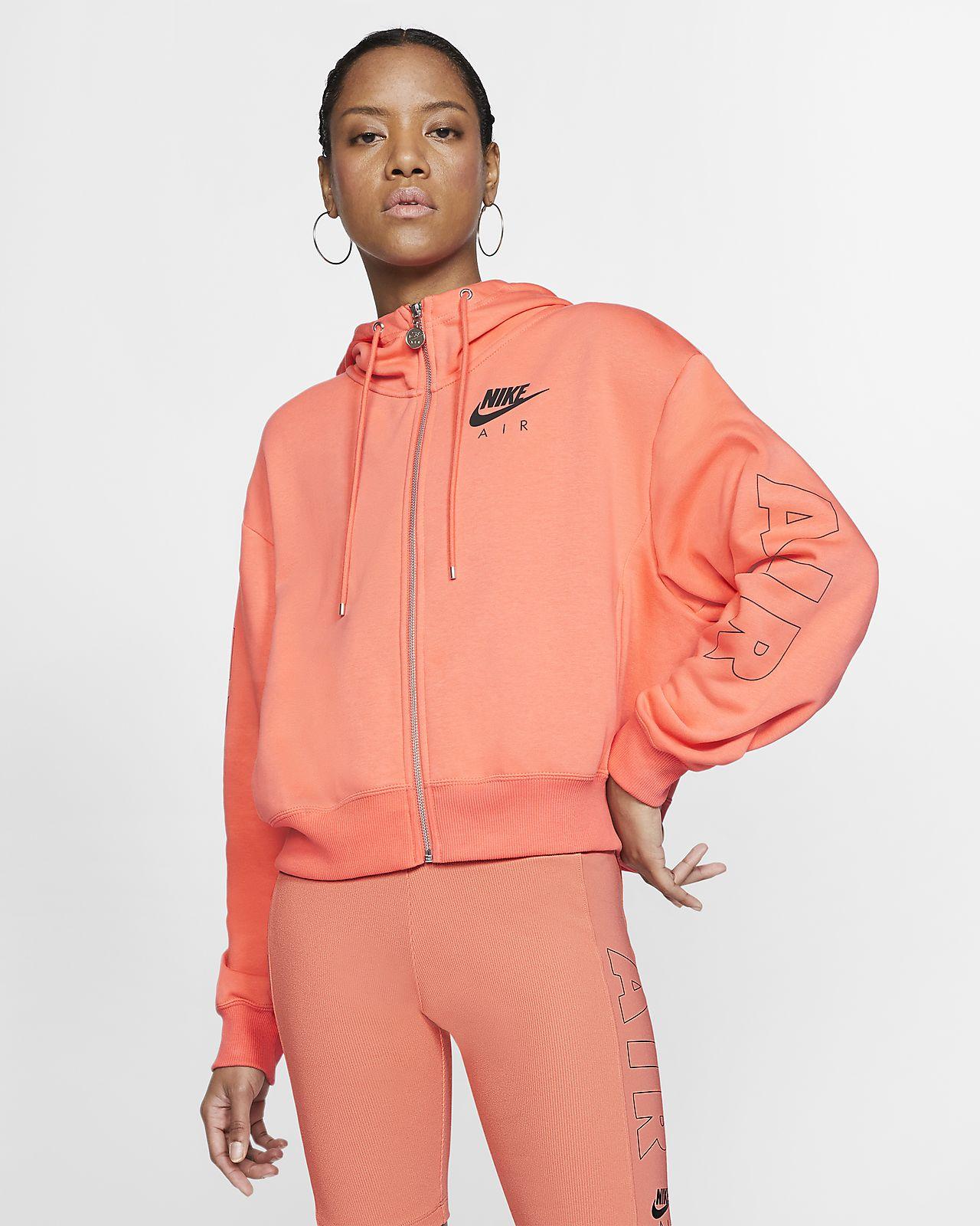 sweat orange femme nike