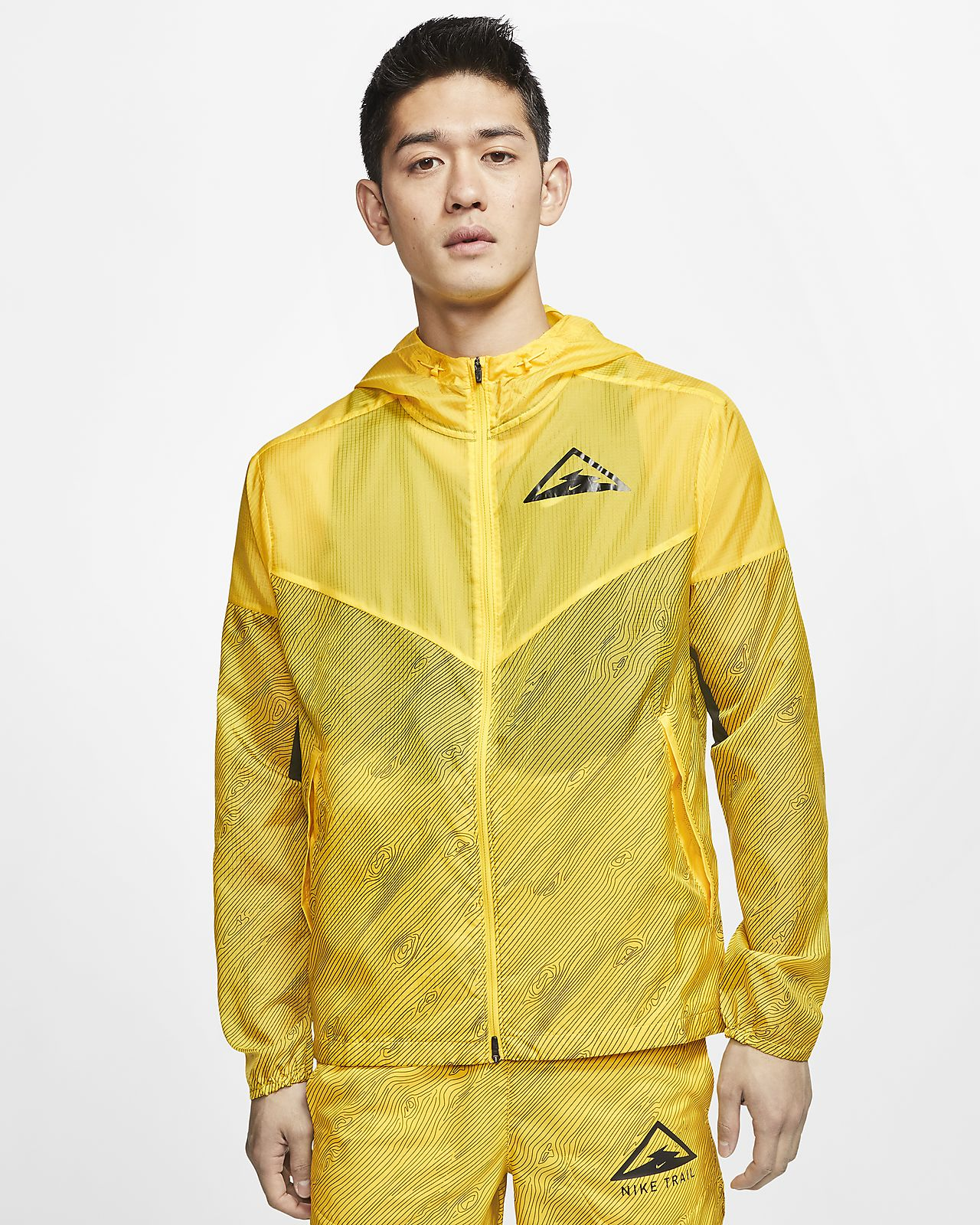 Nike Windrunner 男款連帽越野跑步外套