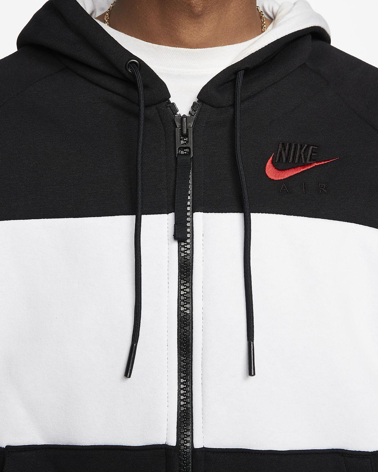 Sweat à capuche en tissu Fleece entièrement zippé Nike Air pour Homme