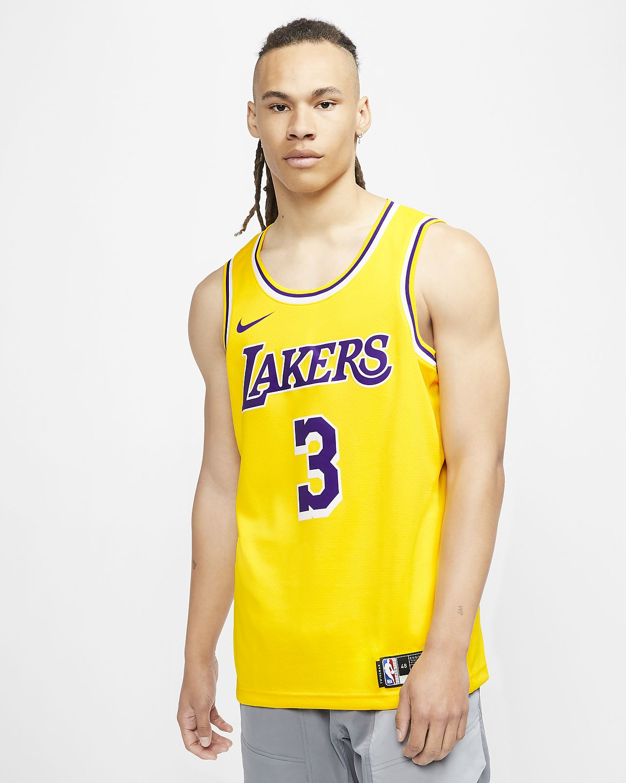 Anthony Davis Lakers Icon Edition Nike NBA Swingman Jersey