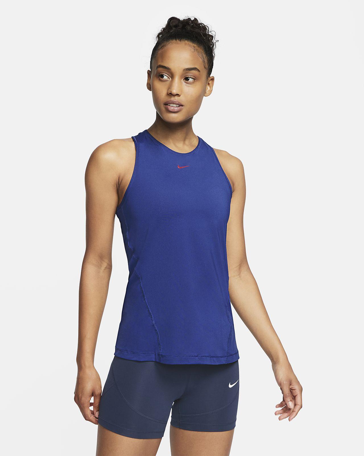 Canotta in mesh Nike Pro - Donna