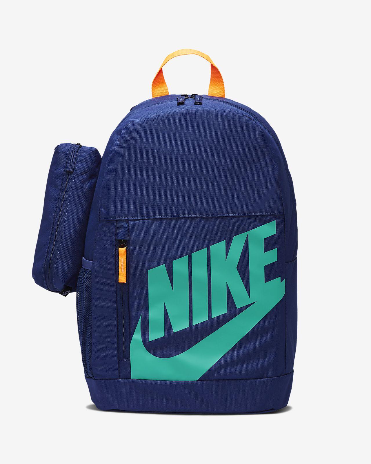 Nike Just Do It JDI Bag Rucksack Backpack Blue Orange Back to School Mini Small