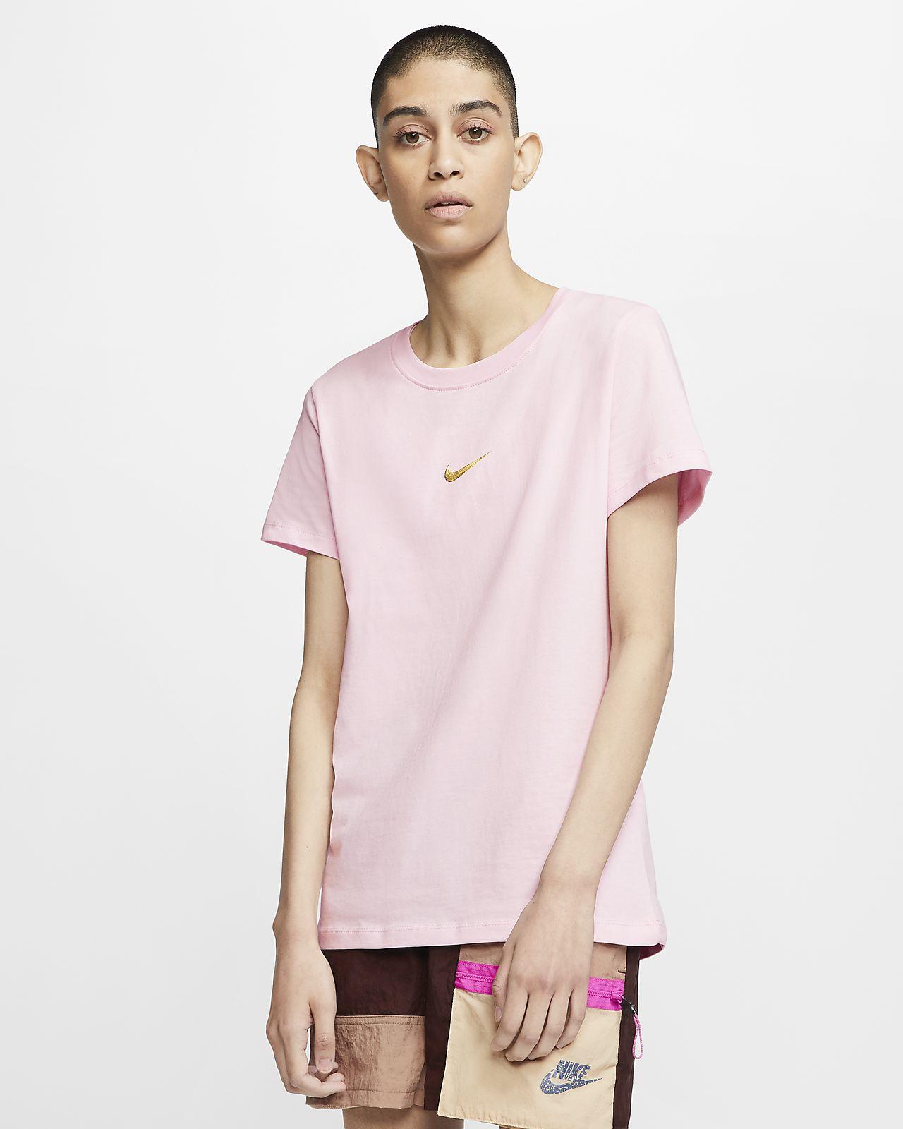 Modne Nike Swoosh Krótkie Spodenki Sleeved T shirty Damskie