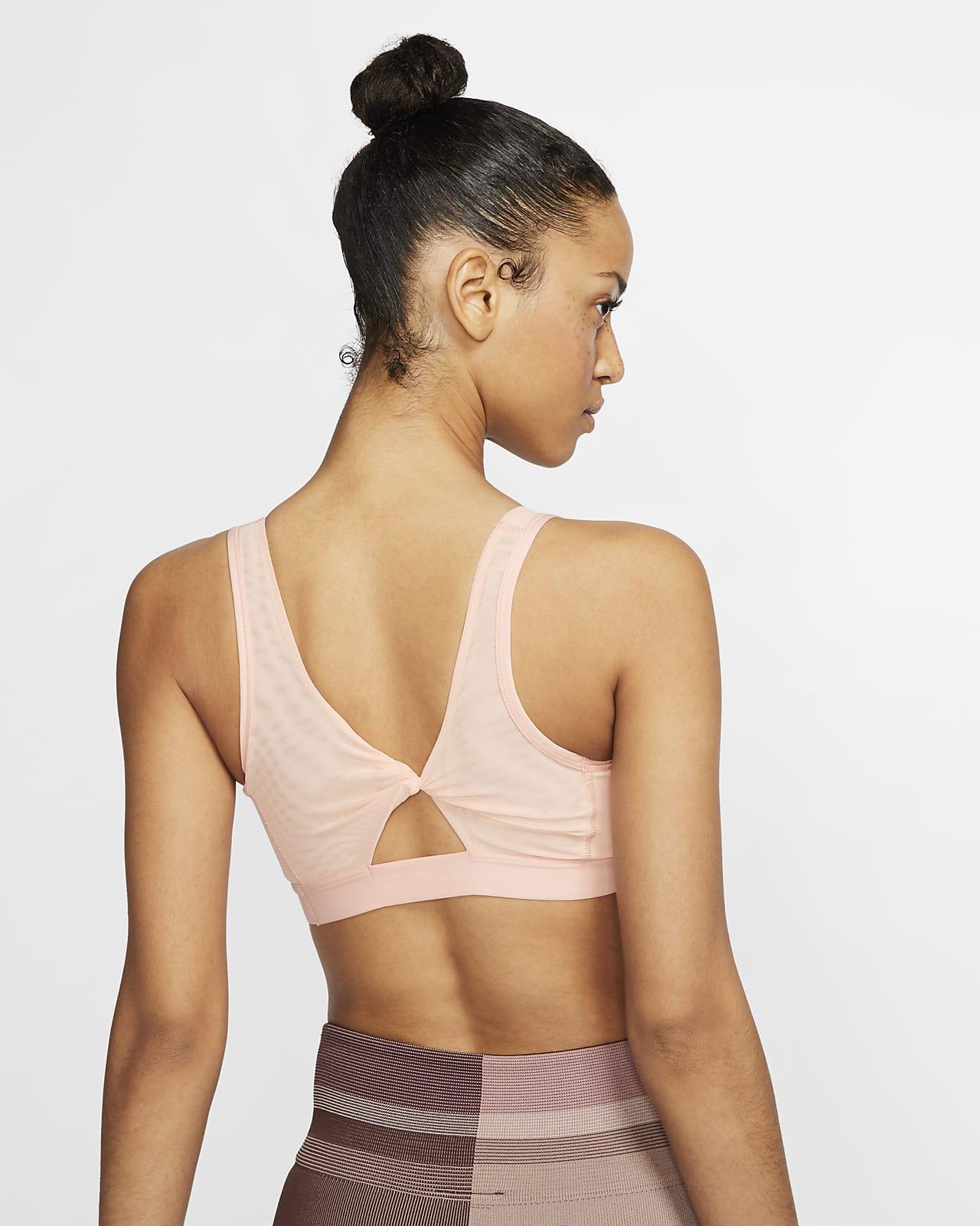 Nike Yoga Women's Light-Support Twisted Keyhole Sports Bra