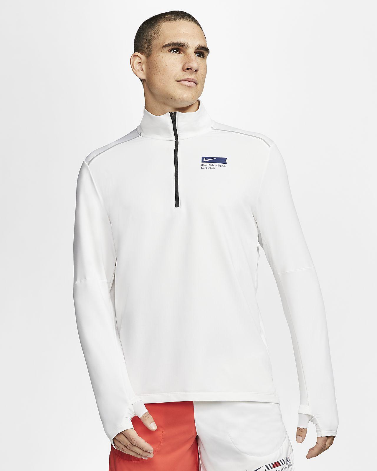 Prenda superior de running con medio cierre para hombre Nike Element Blue Ribbon Sports