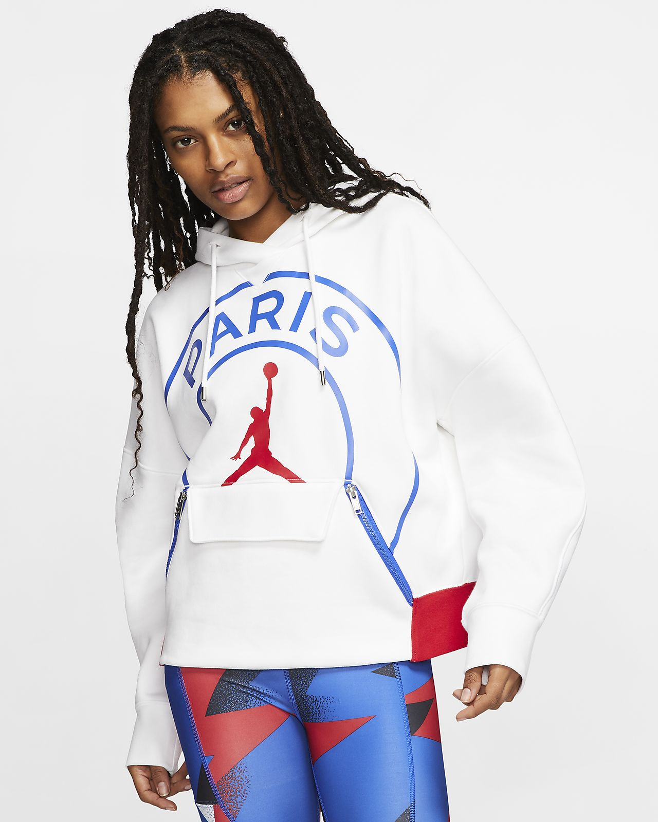 Felpa in fleece con cappuccio Paris Saint-Germain - Donna