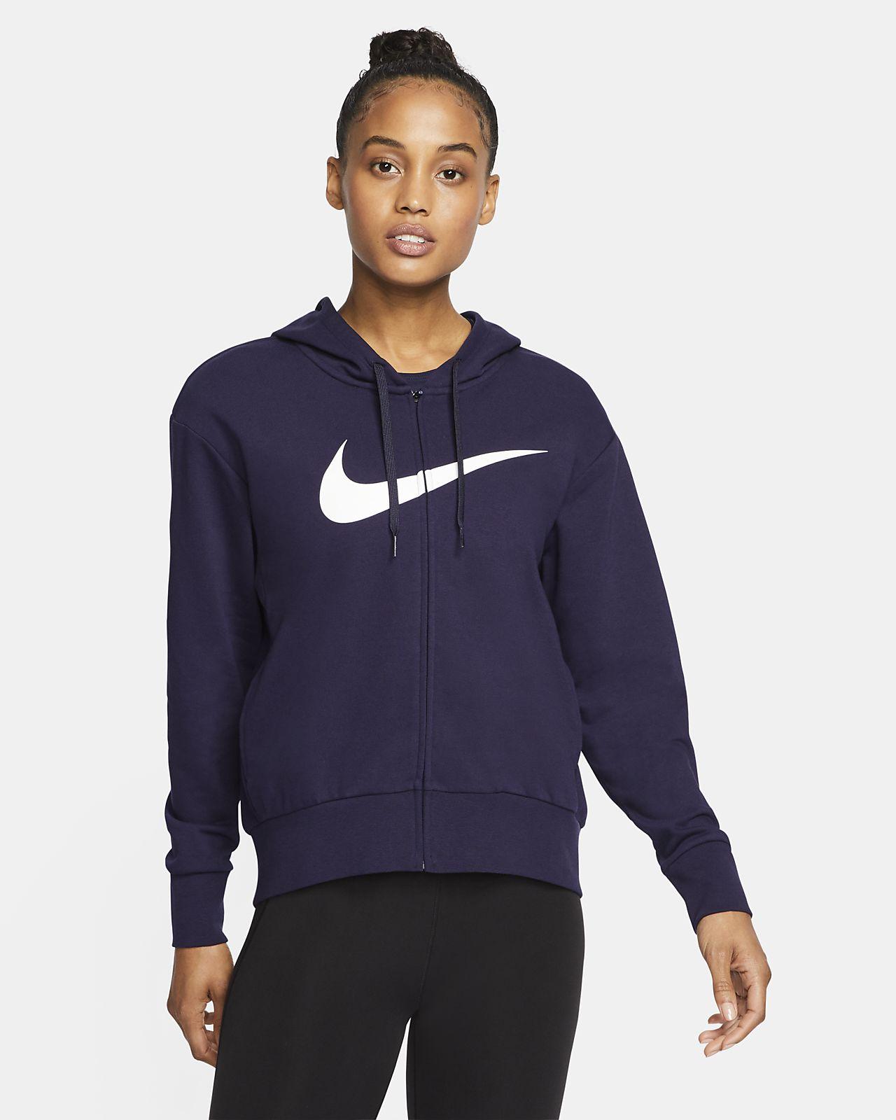 Nike Dri-FIT Get Fit-træningshættetrøje med lynlås til kvinder