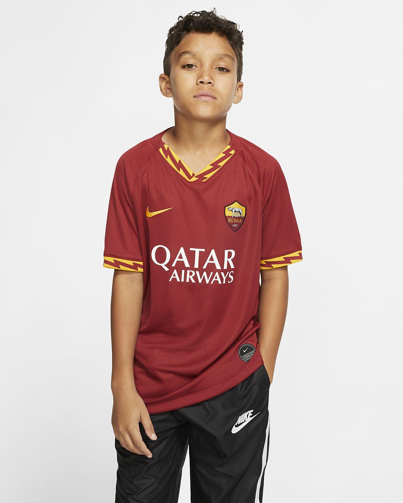 A.S. Roma 2019/20 Stadium Home fotballdrakt til store barn