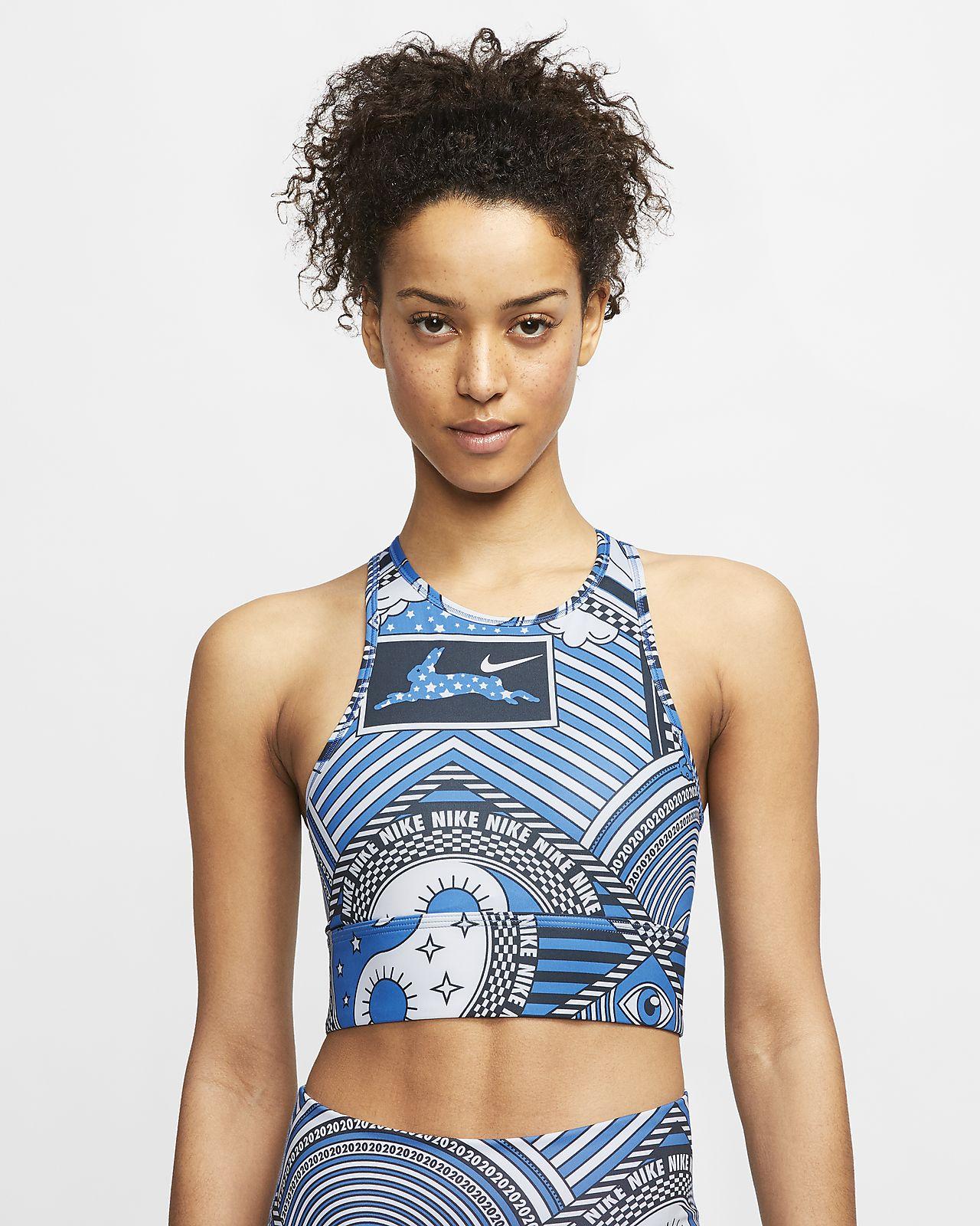 Nike Swoosh 女子高领中强度支撑运动内衣