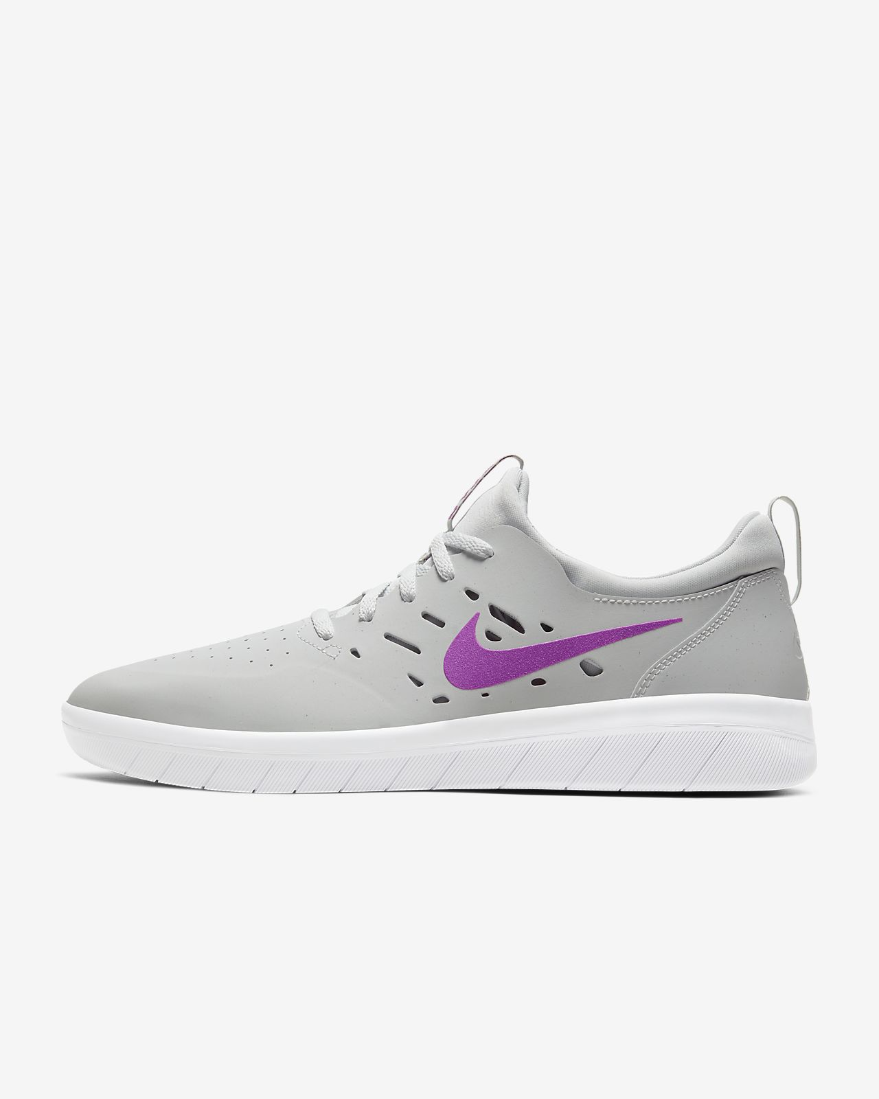 Nike SB Nyjah Huston Free Skate Shoes Black Gum Sole Skateboard Women 8.5 Men 7