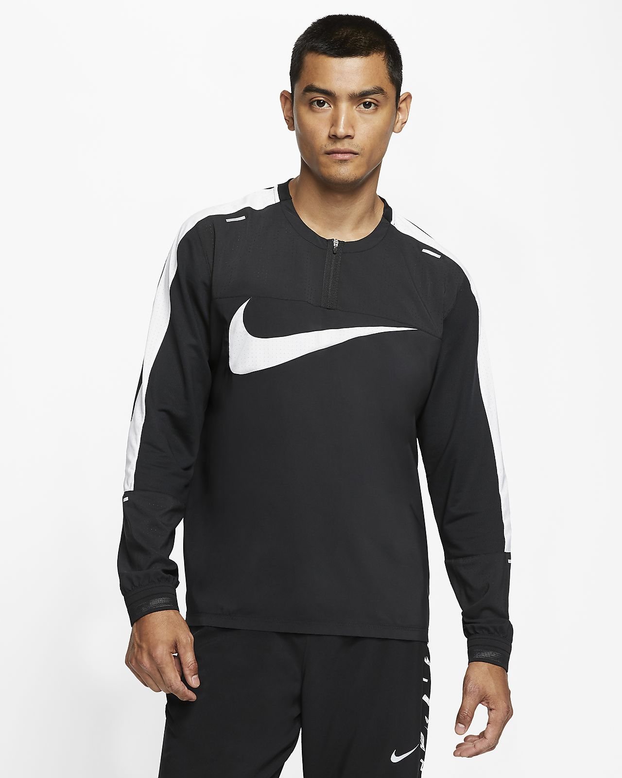 Haut de running à 1/4 de zip Nike Wild Run pour Homme
