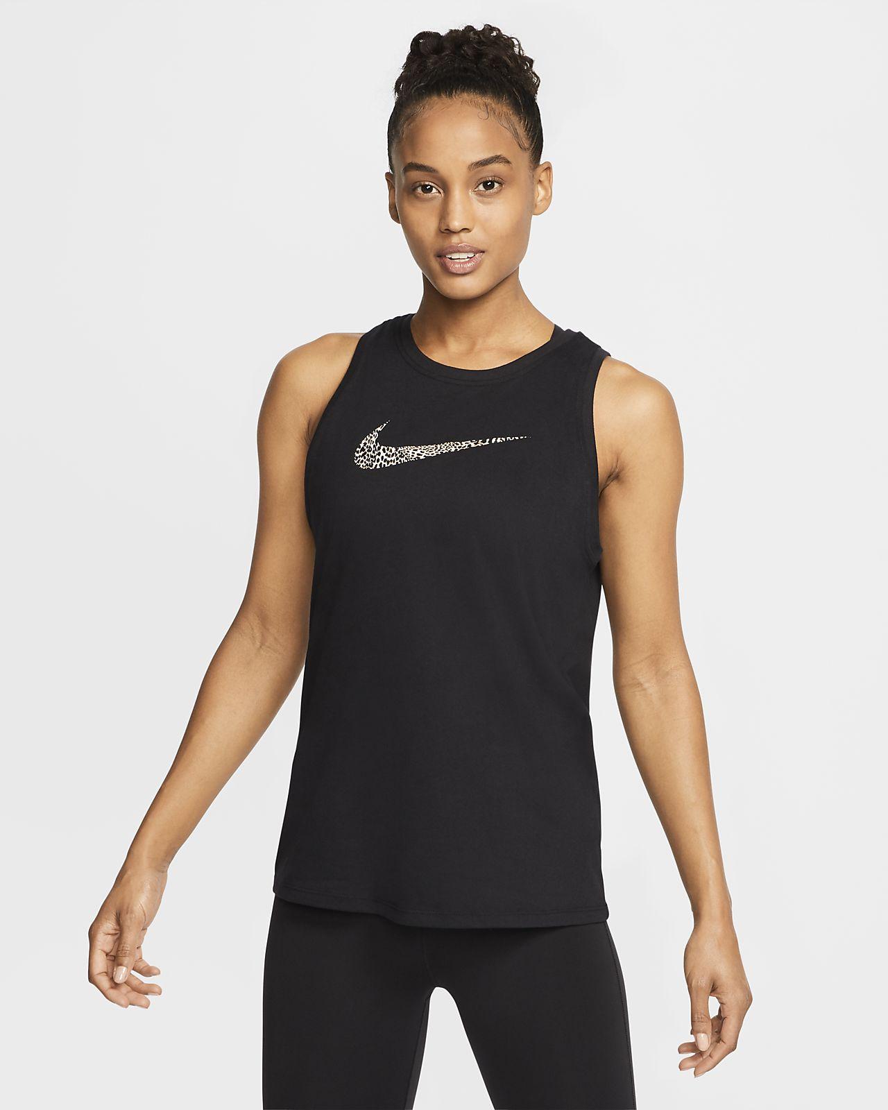 Nike Dri-FIT Women's Leopard Logo Training Tank