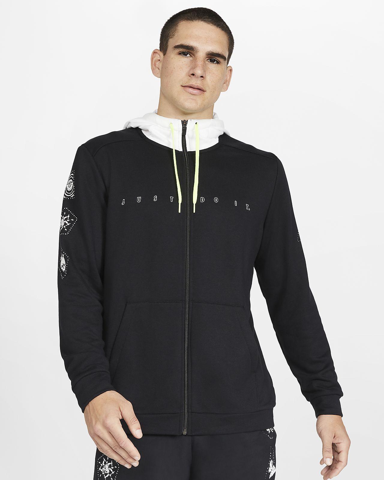 Nike Dri-FIT-træningshættetrøje i fleece med lynlås til mænd