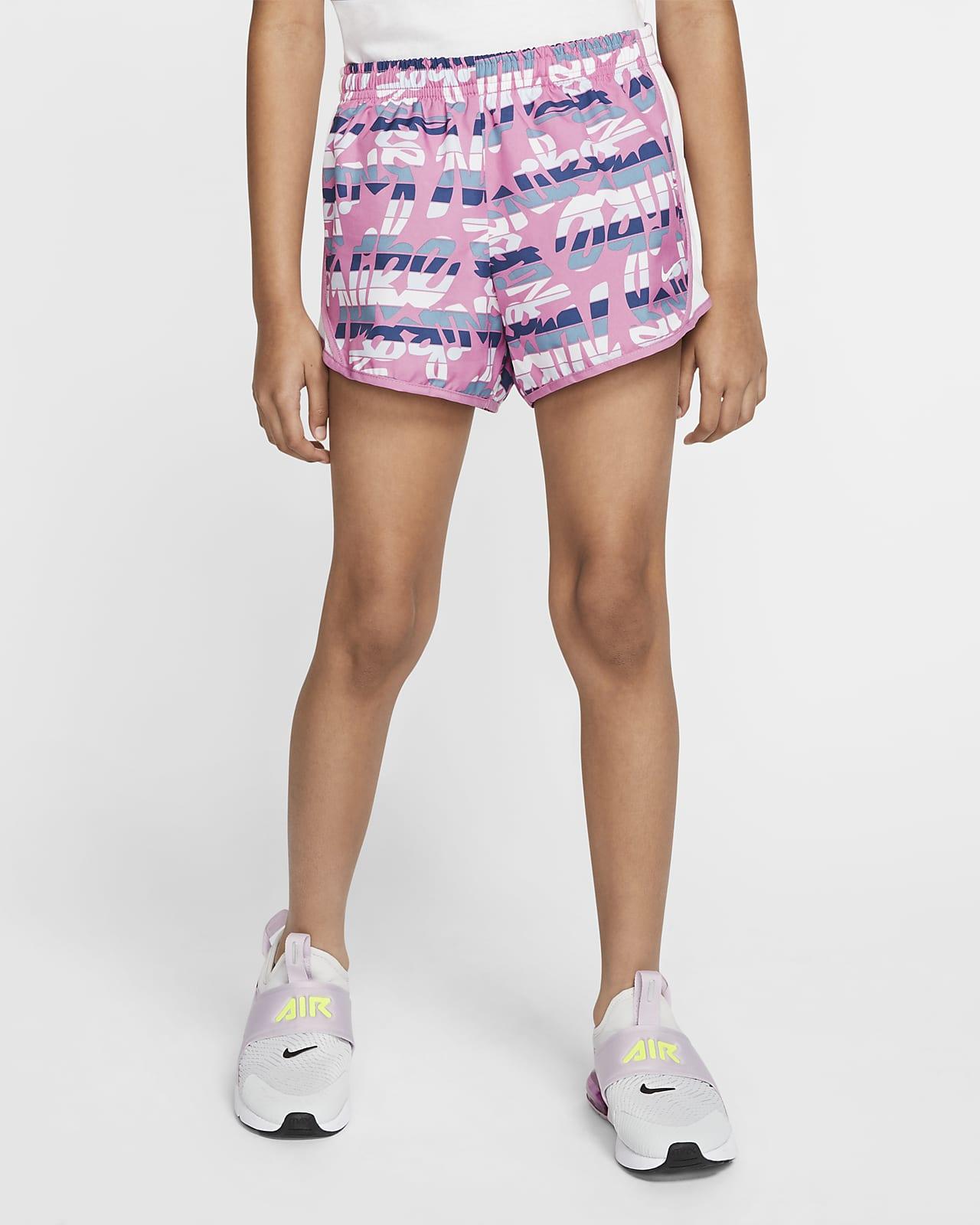Shorts de running con estampado para niñas talla grande Nike Dri-FIT Tempo