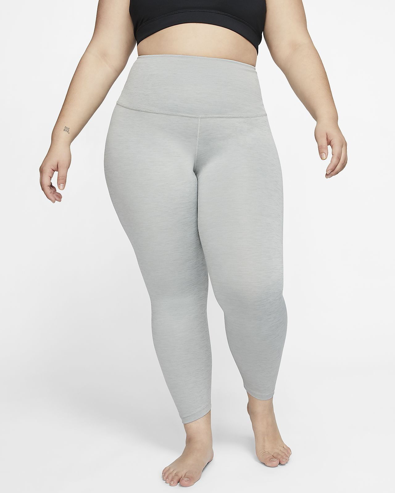 Leggings fruncidos de 7/8 para mujer Nike Yoga (talla grande)