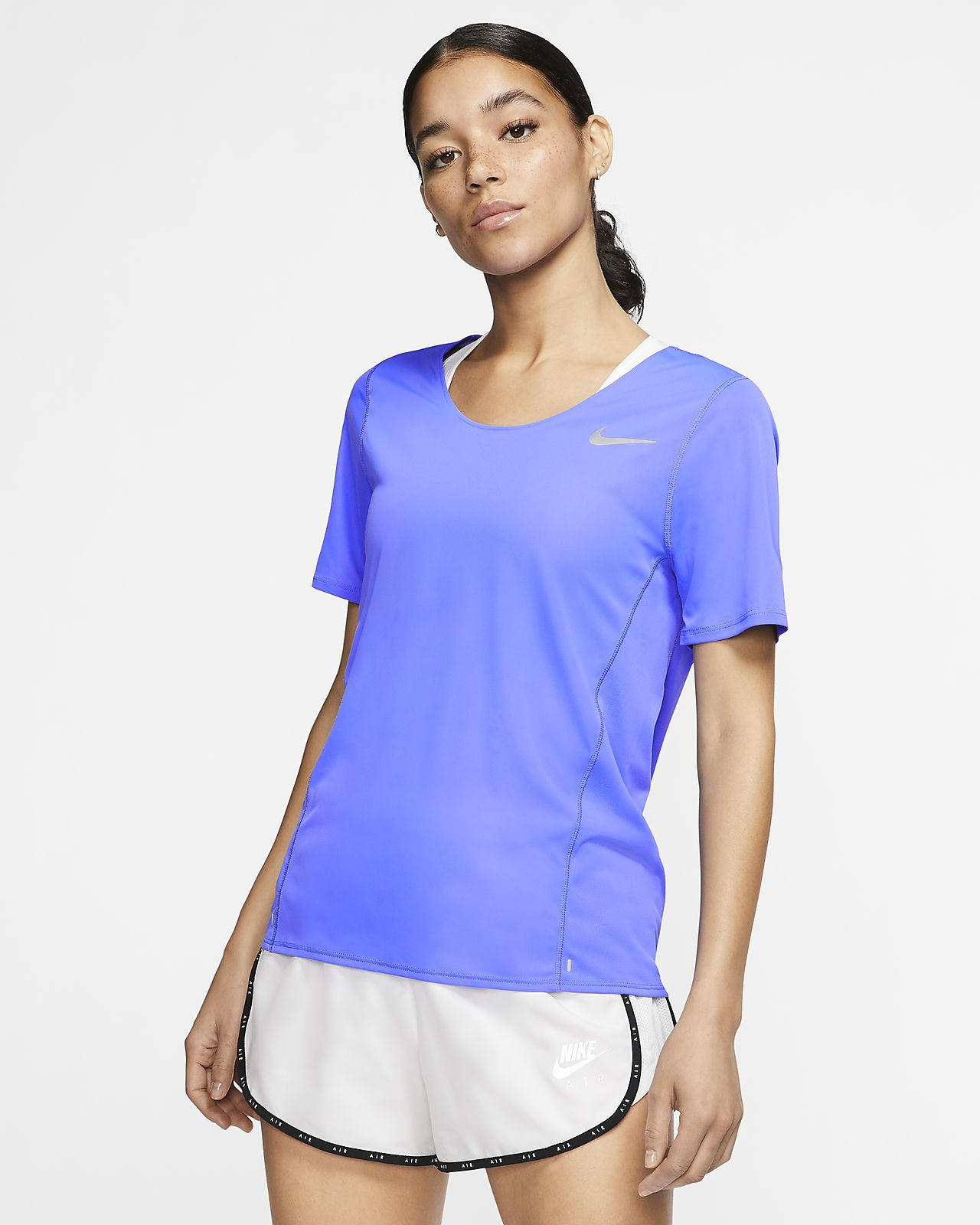 Camisola de running de manga curta Nike City Sleek para mulher