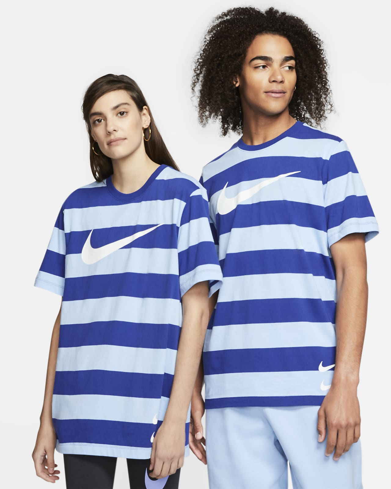 Nike Sportswear Swoosh Striped T-Shirt