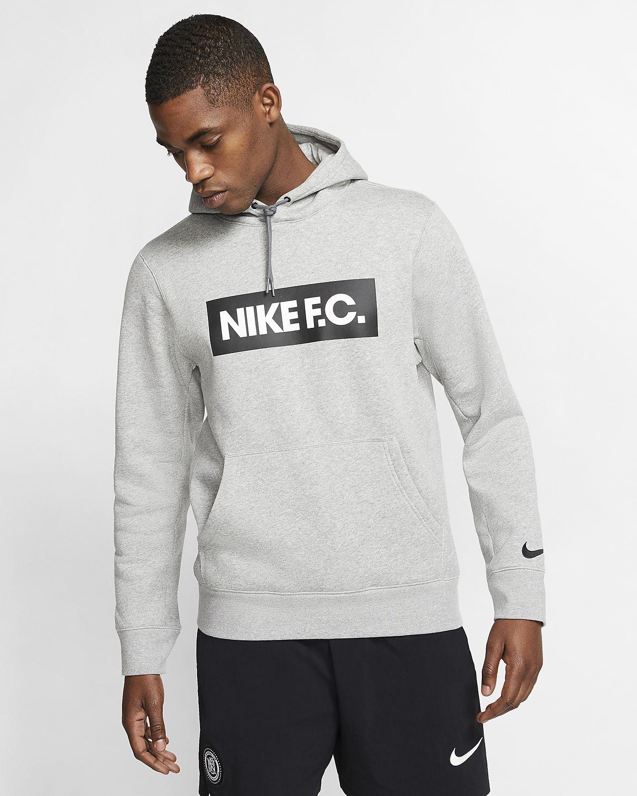 Pánská flísová fotbalová mikina Nike F.C. s kapucí