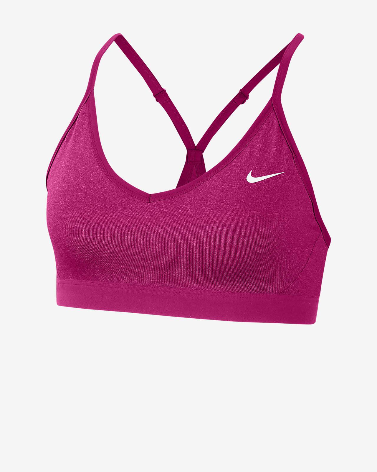 Nike Indy enyhe tartást adó, párnázott női sportmelltartó