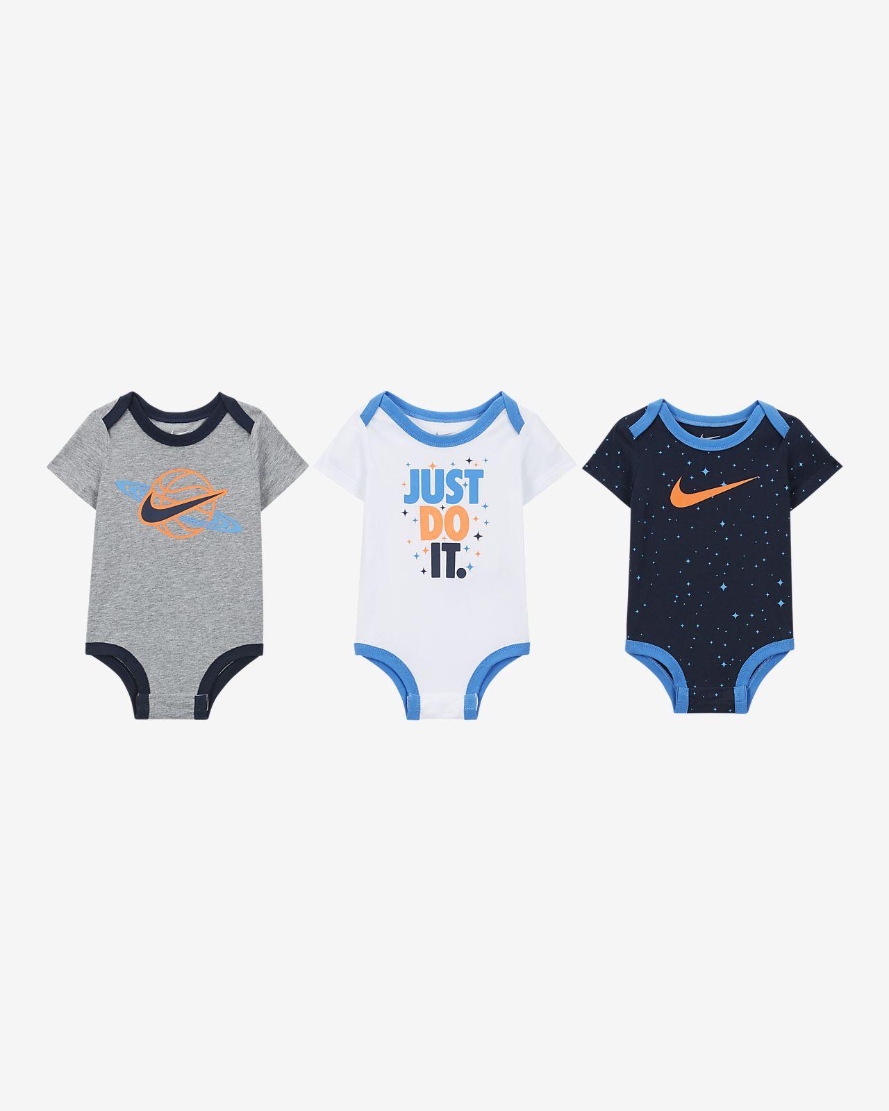 Conjunto de body para bebé Nike (0 a 9 meses) (3 piezas)