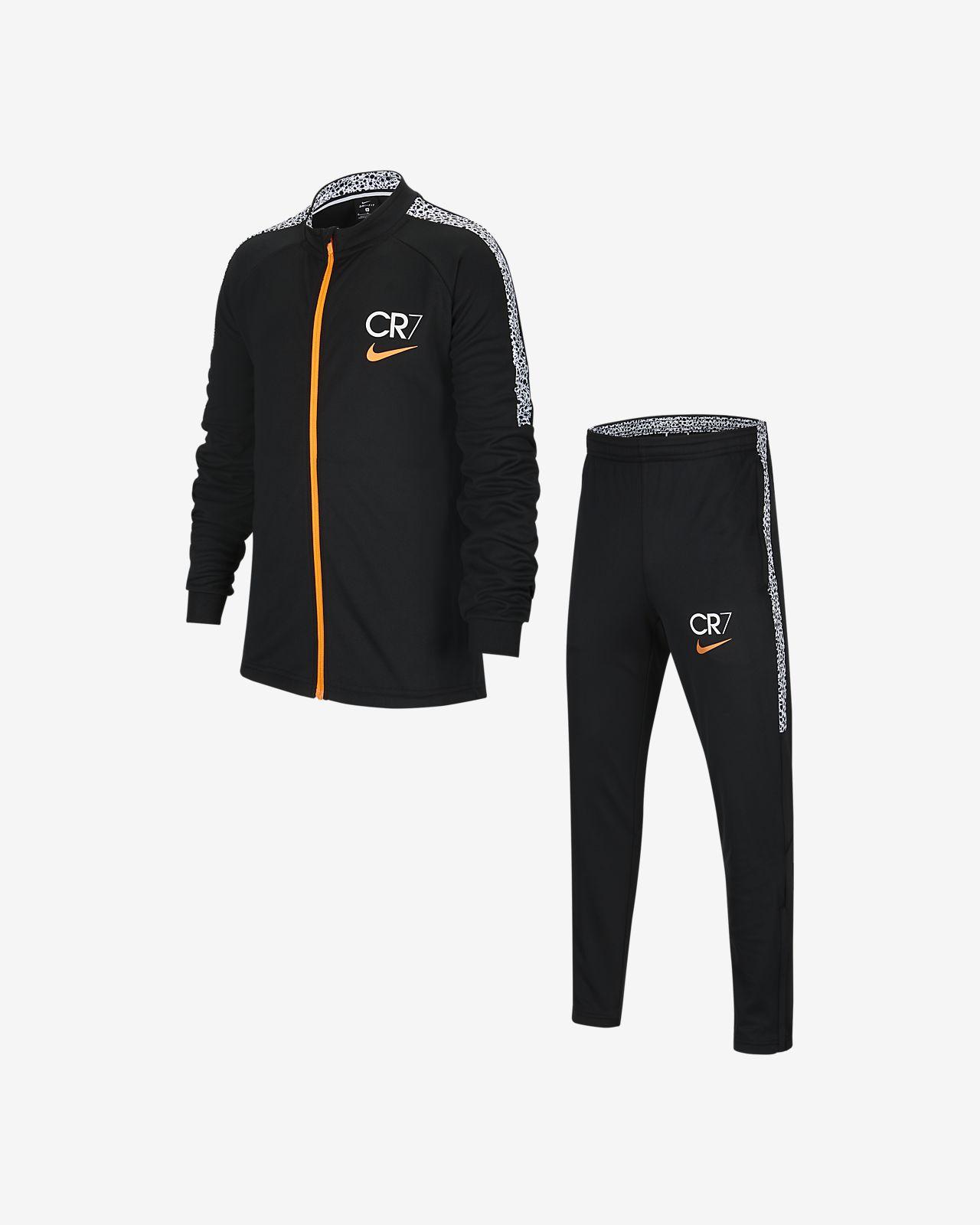 Nike Dri-FIT CR7 大童(男孩)针织足球运动套装