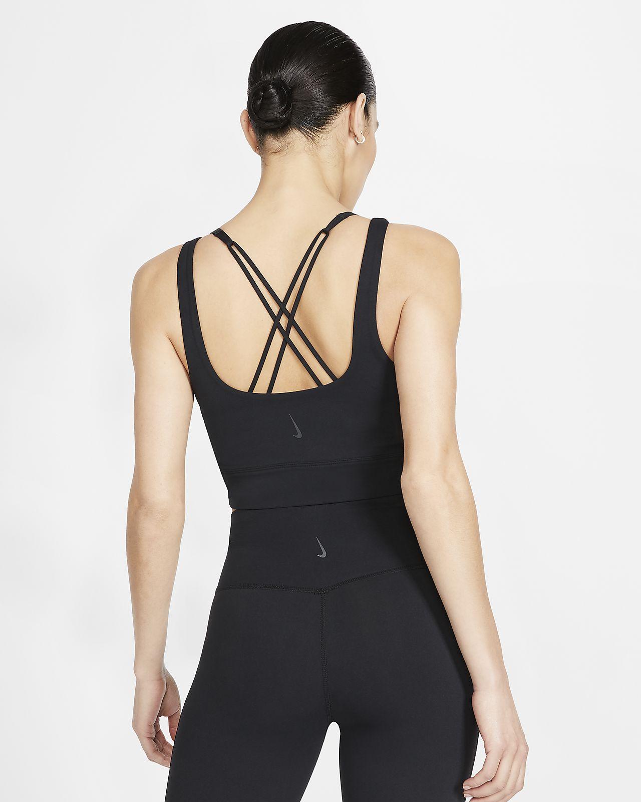 Débardeur métallisé Infinalon Nike Yoga Luxe pour Femme