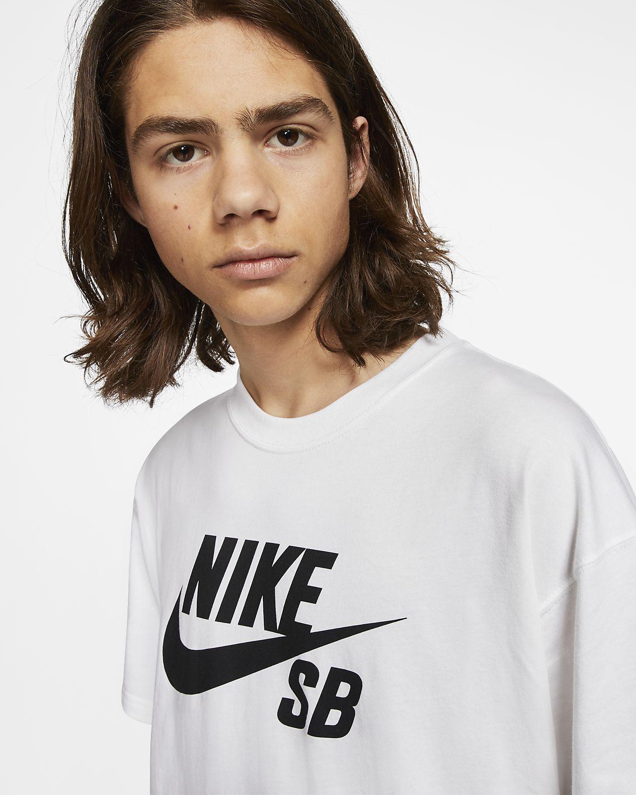 Nike SB Boys' Big Logo T Shirt, Red at