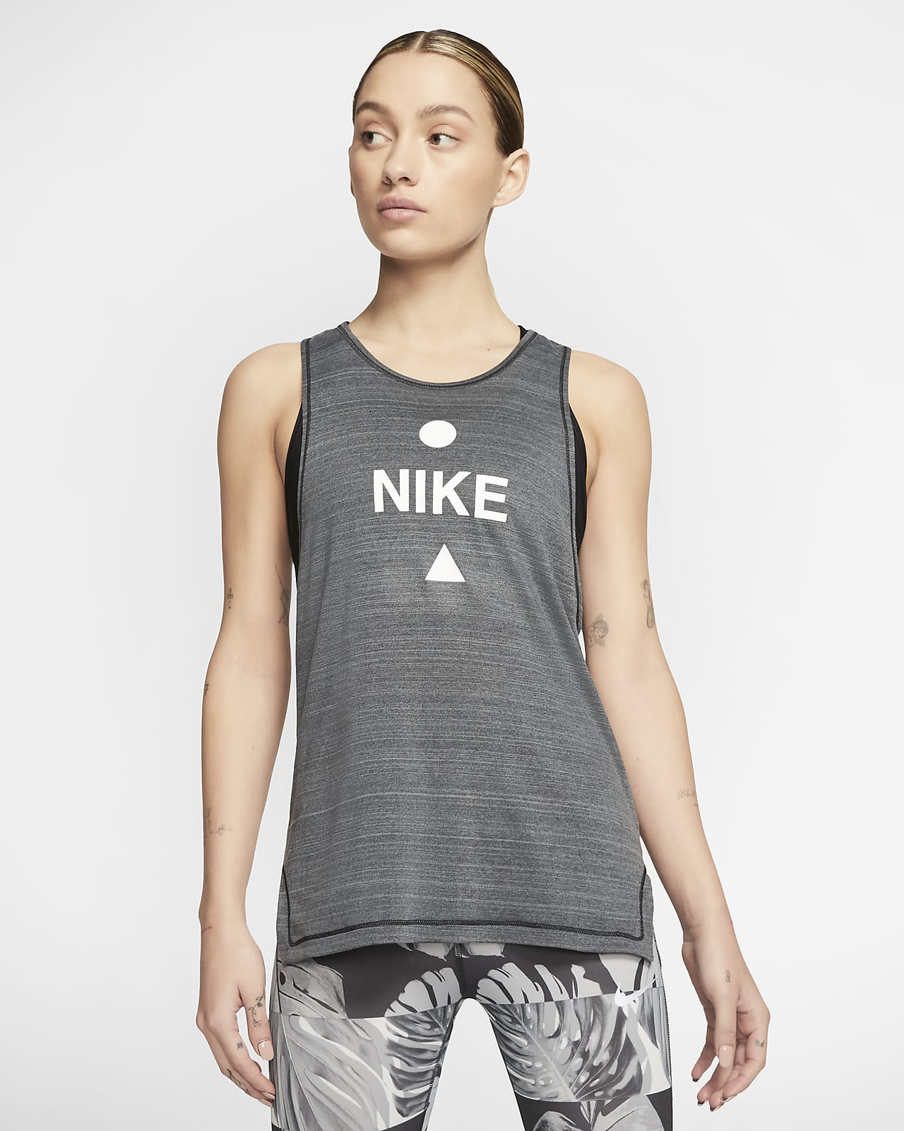 Camiseta de tirantes de running para mujer Nike Icon Clash