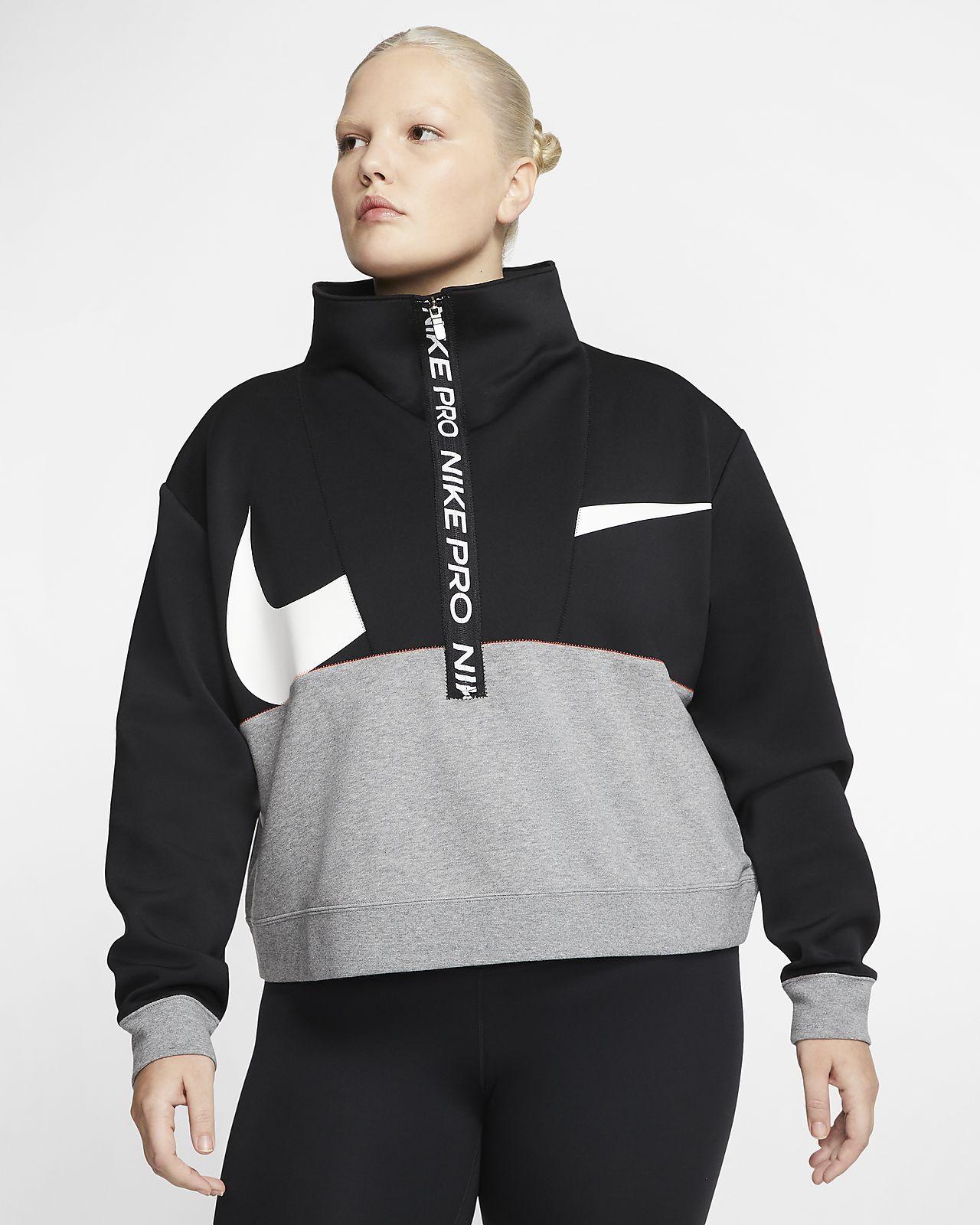 Dámská flísová mikina Nike Pro Get Fit (větší velikost)